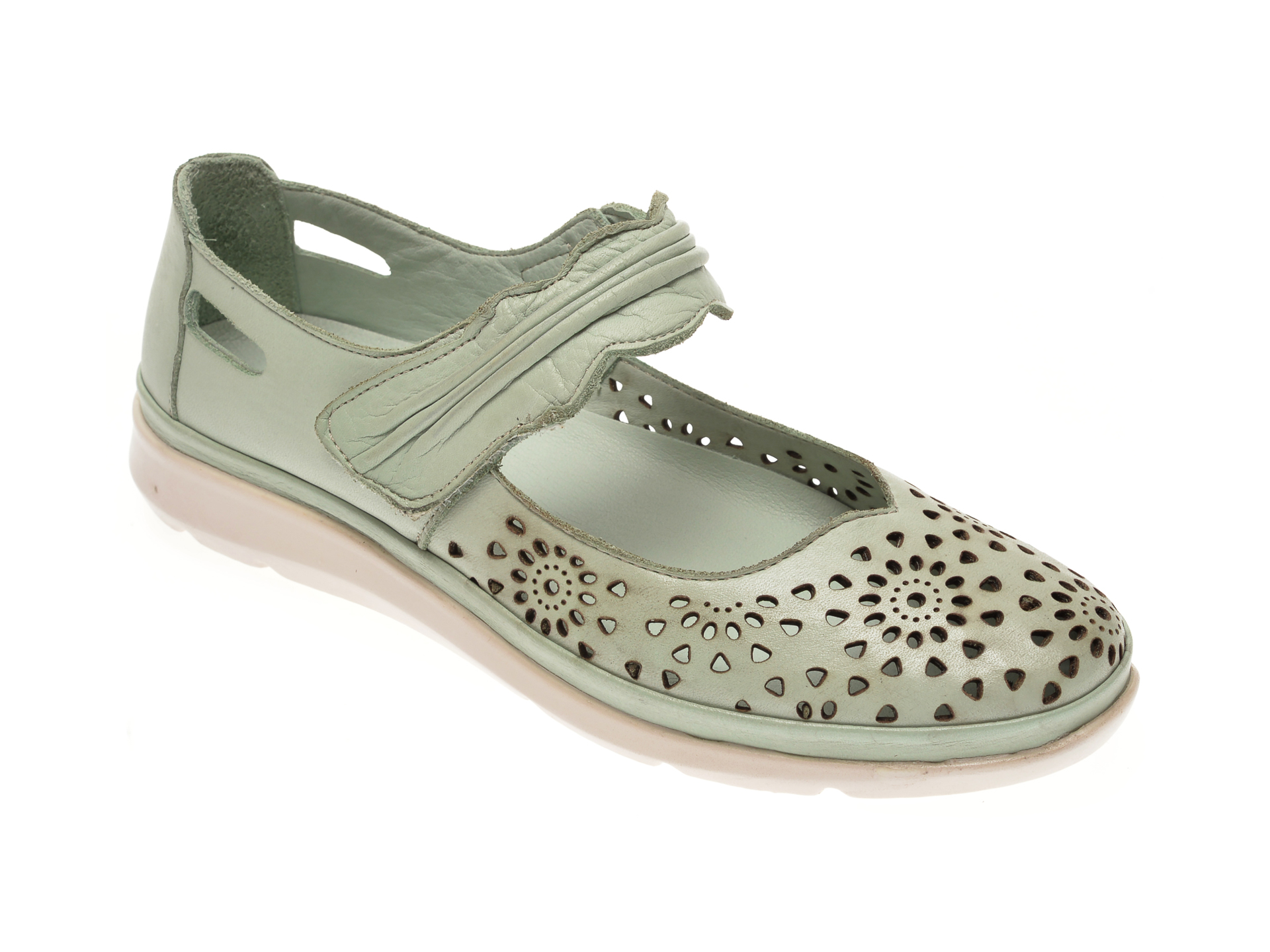 Pantofi MARCHA verzi, 600, din piele naturala