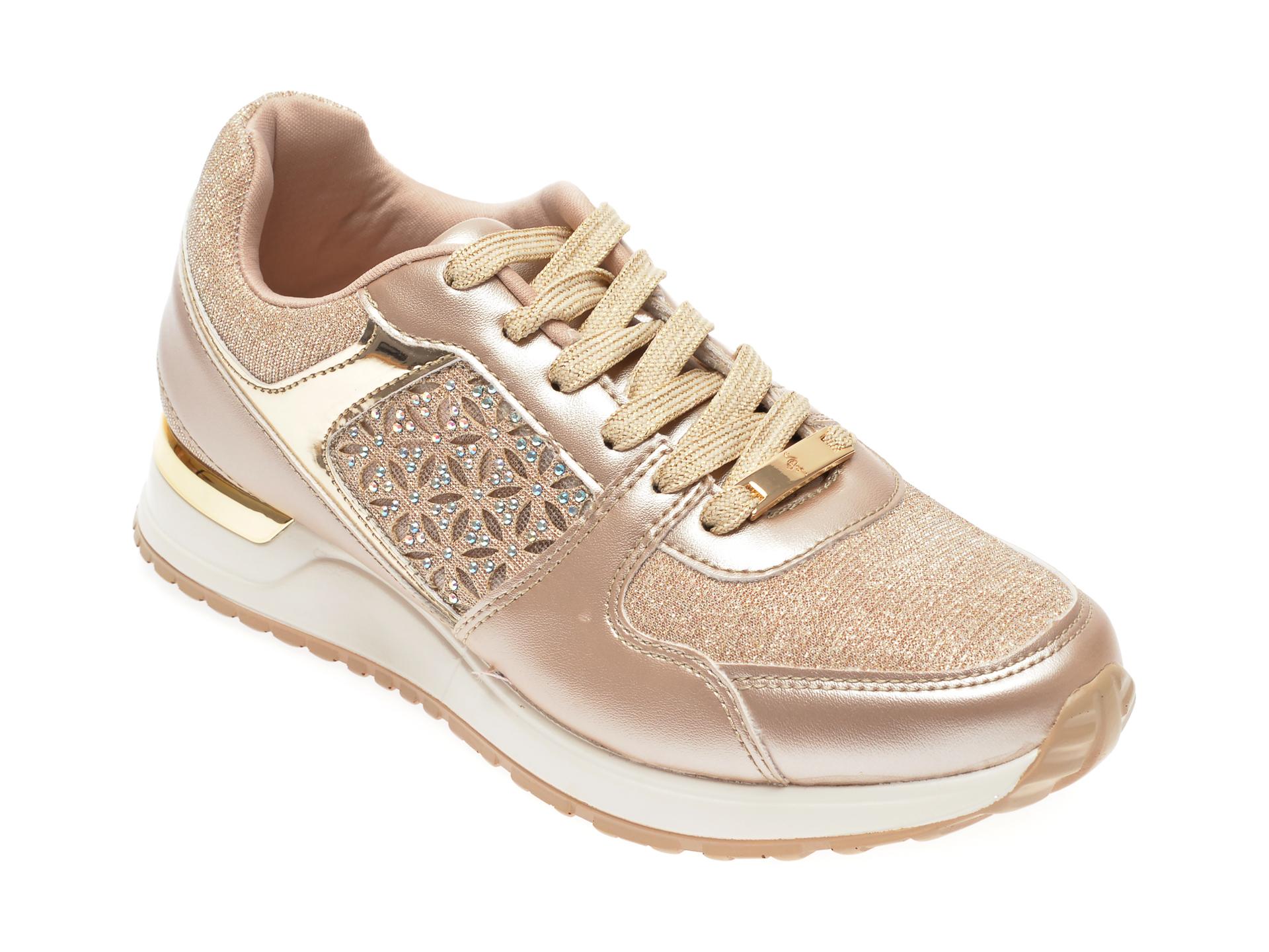 Pantofi MENBUR aurii, 21485, din piele ecologica imagine