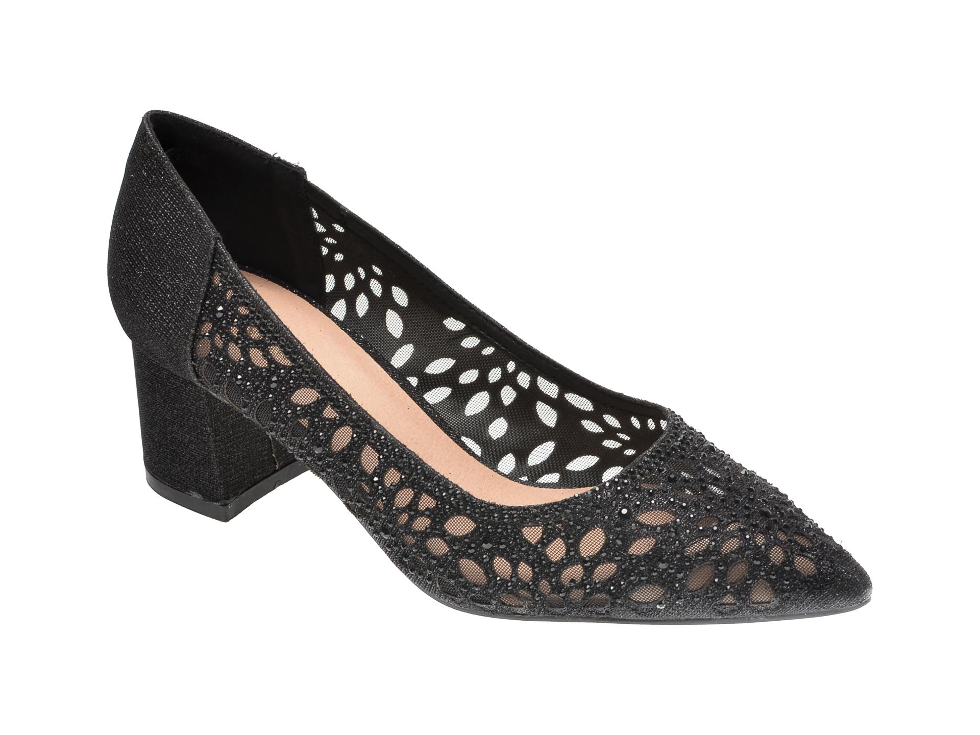 Pantofi MENBUR negri, 21951, din material textil imagine otter.ro 2021