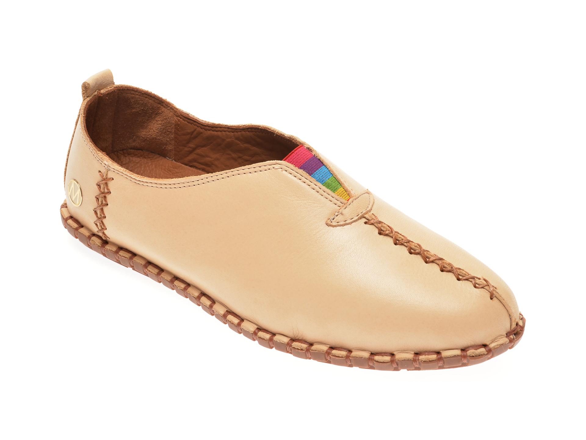 Pantofi MESSIMODA bej, 20Y2901, din piele naturala