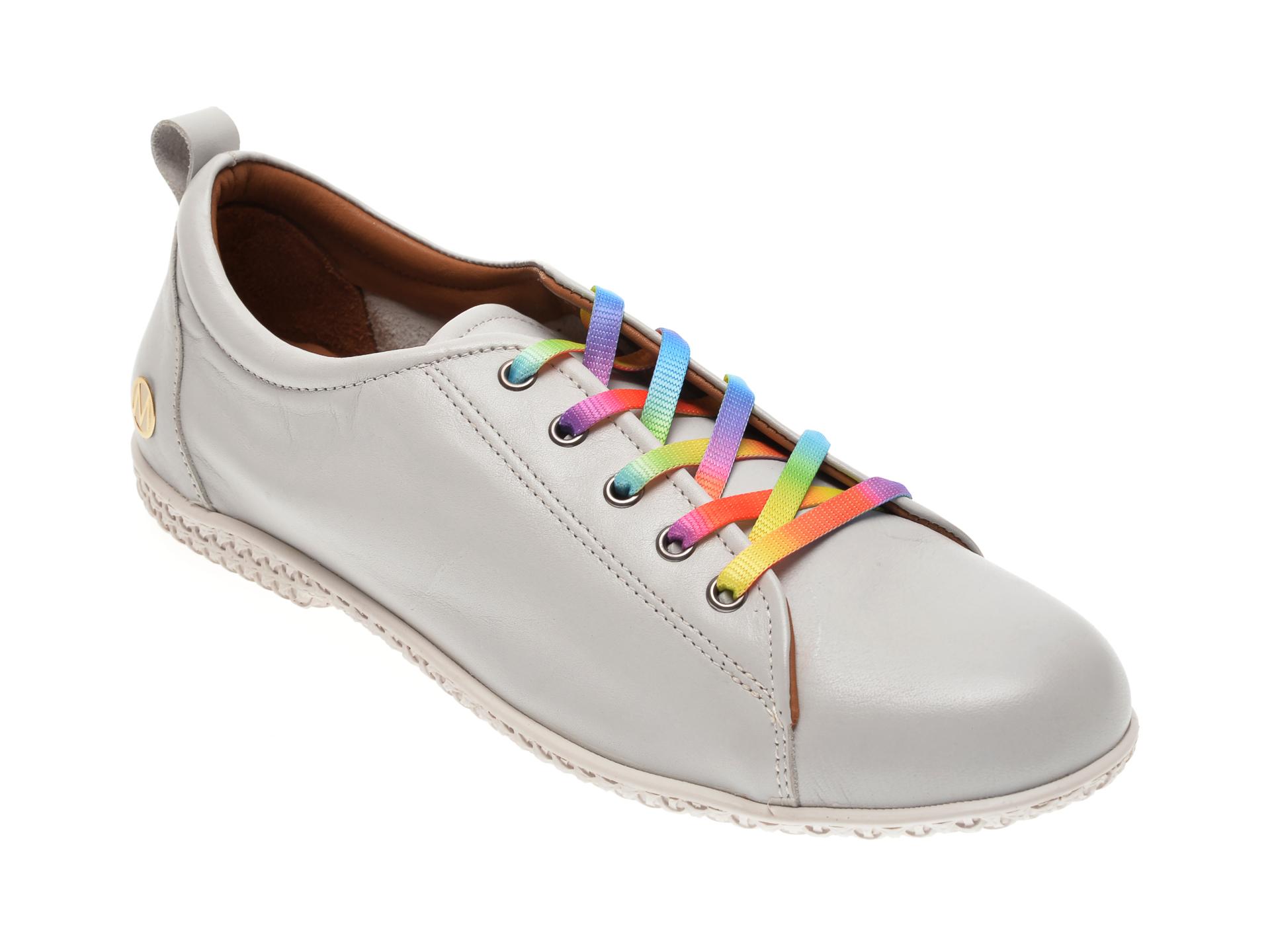 Pantofi MESSIMODA gri, 20Y3569, din piele naturala