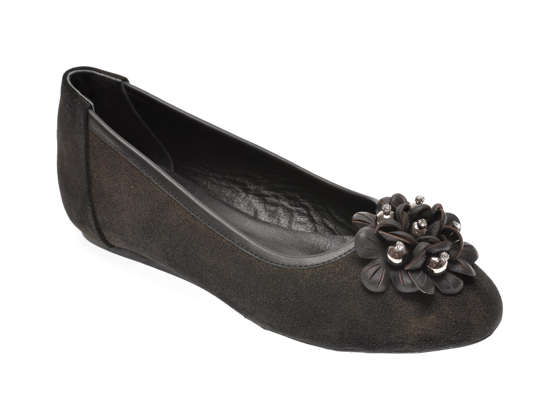 Pantofi MESSIMODA kaki, 18K1420, din piele intoarsa