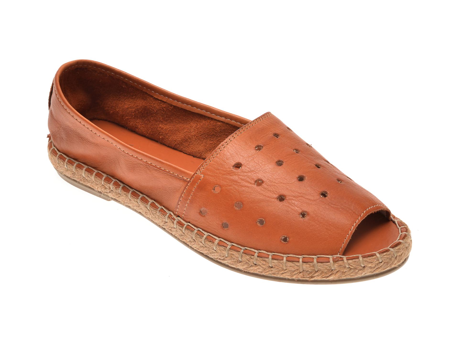 Pantofi MESSIMODA maro, 18Y1155, din piele naturala New