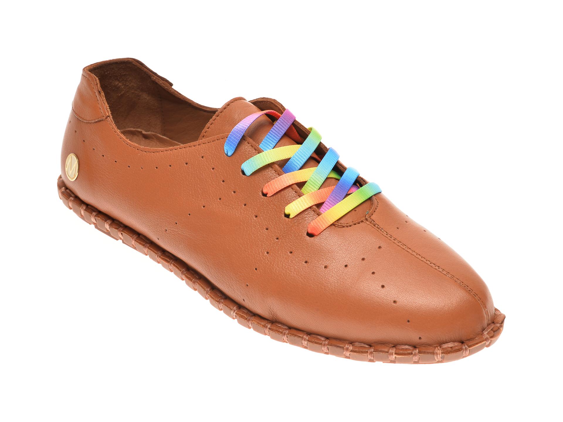 Pantofi MESSIMODA maro, 20Y2902, din piele naturala