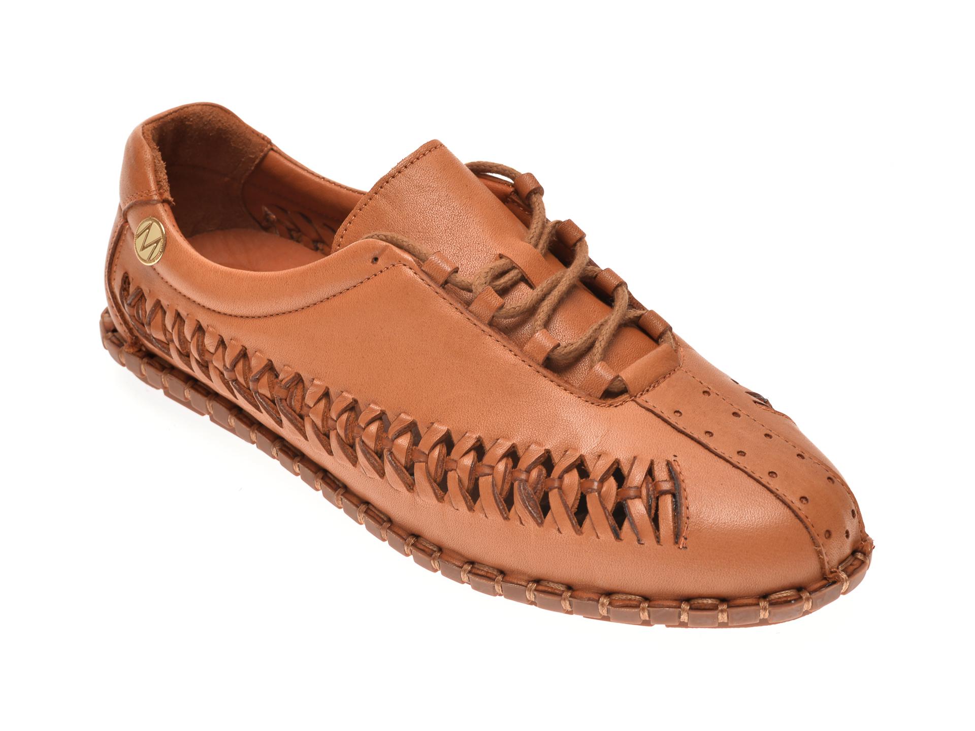 Pantofi MESSIMODA maro, 20Y2925, din piele naturala