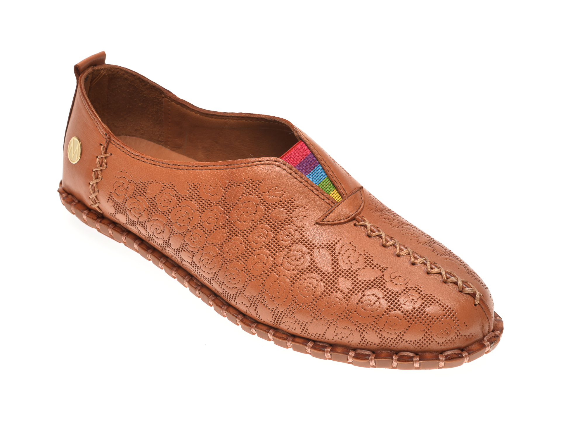 Pantofi MESSIMODA maro, 20Y3515, din piele naturala imagine