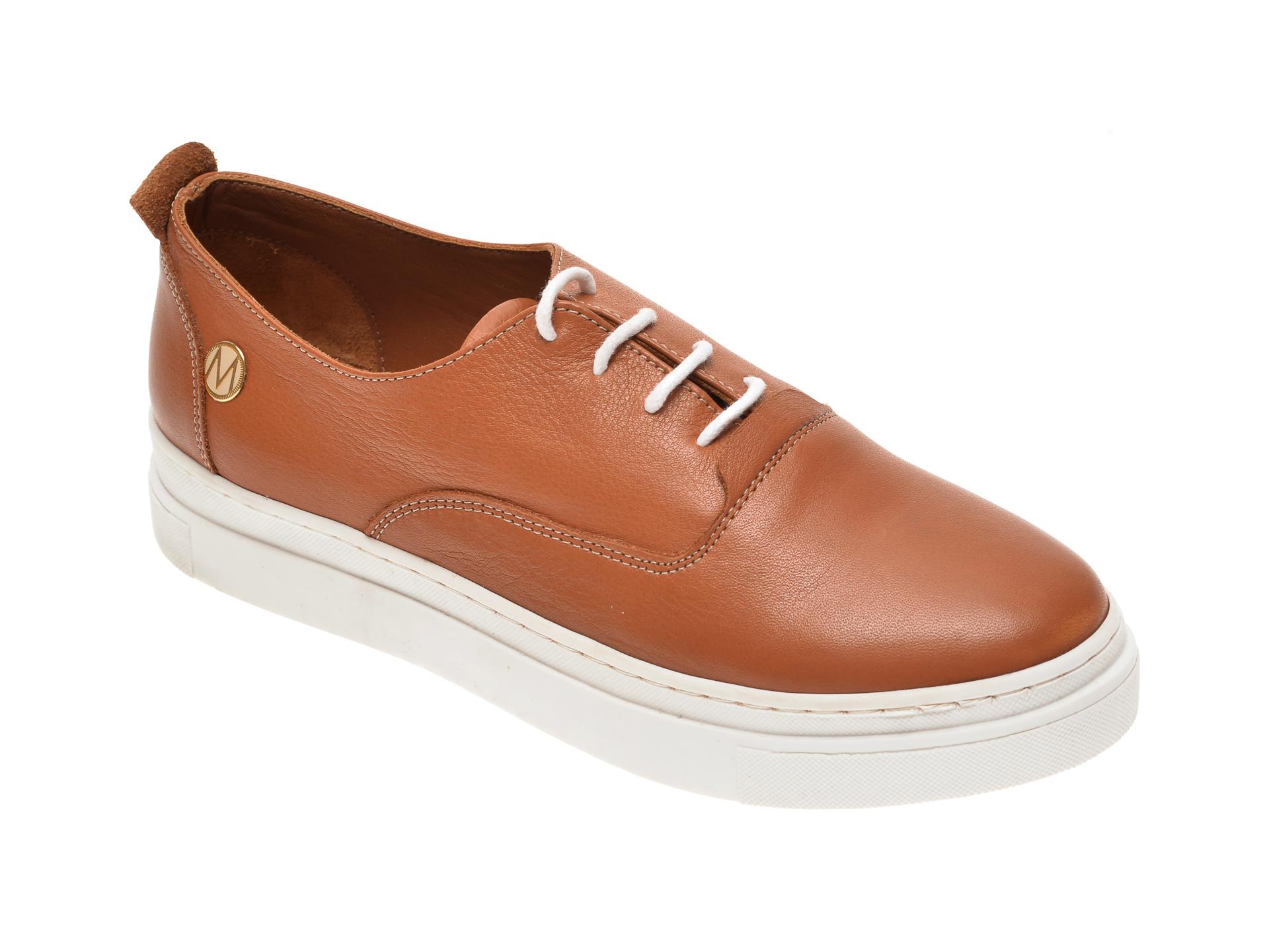 Pantofi MESSIMODA maro, 20Y4175, din piele naturala