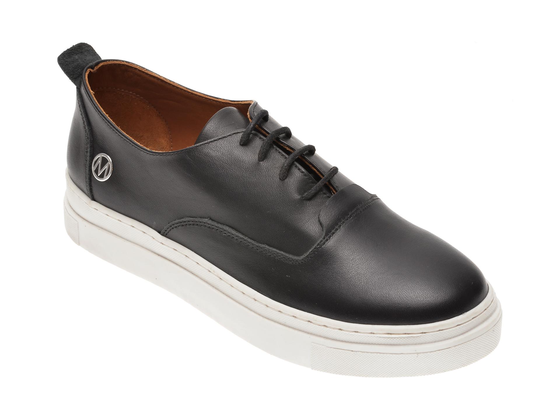 Pantofi MESSIMODA negri, 20Y4175, din piele naturala imagine