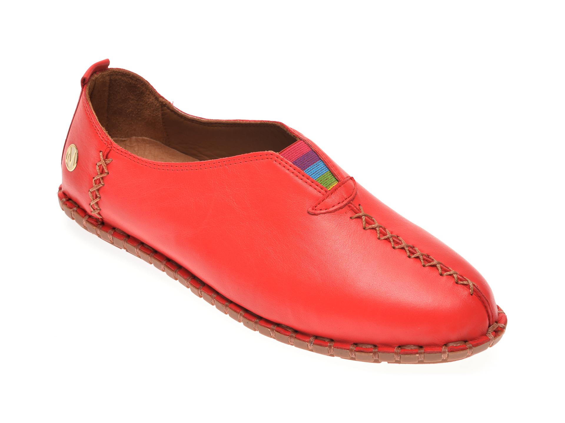 Pantofi MESSIMODA rosii, 20Y2901, din piele naturala