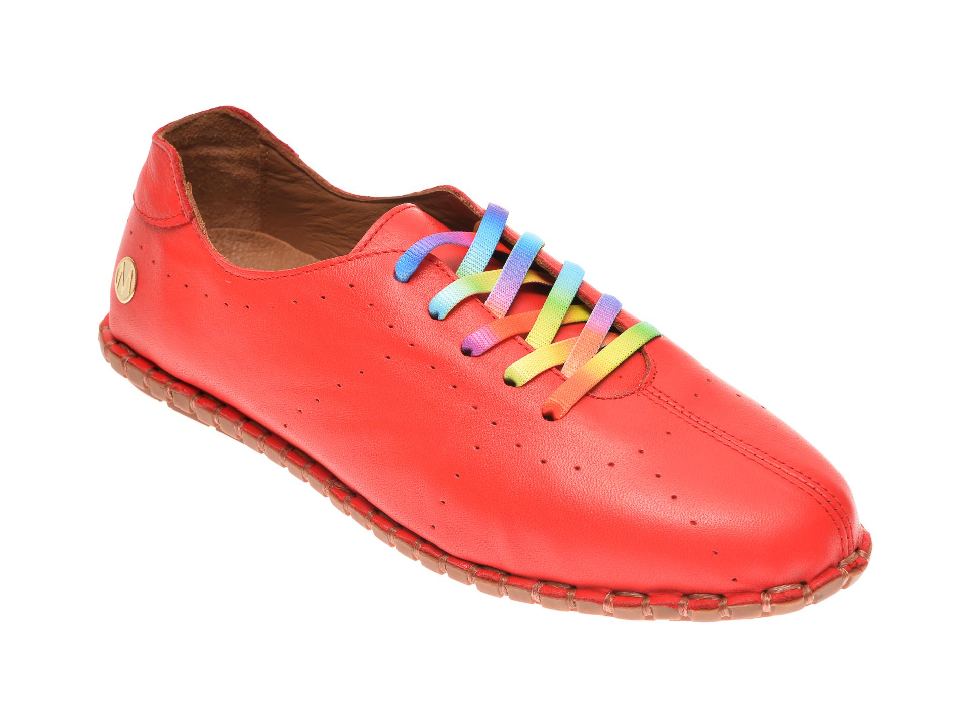 Pantofi MESSIMODA rosii, 20Y2902, din piele naturala