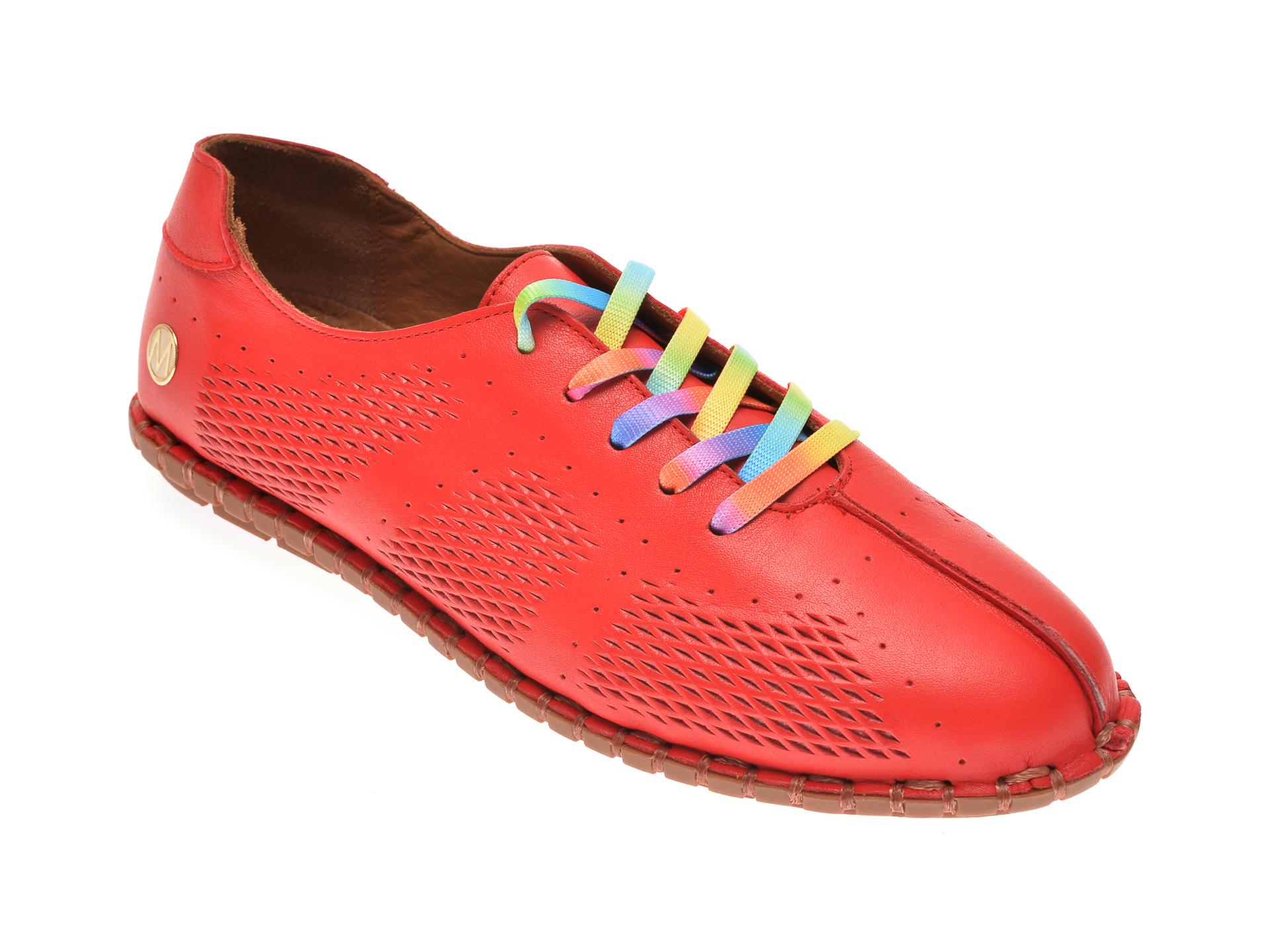 Pantofi MESSIMODA rosii, 20Y3516, din piele naturala