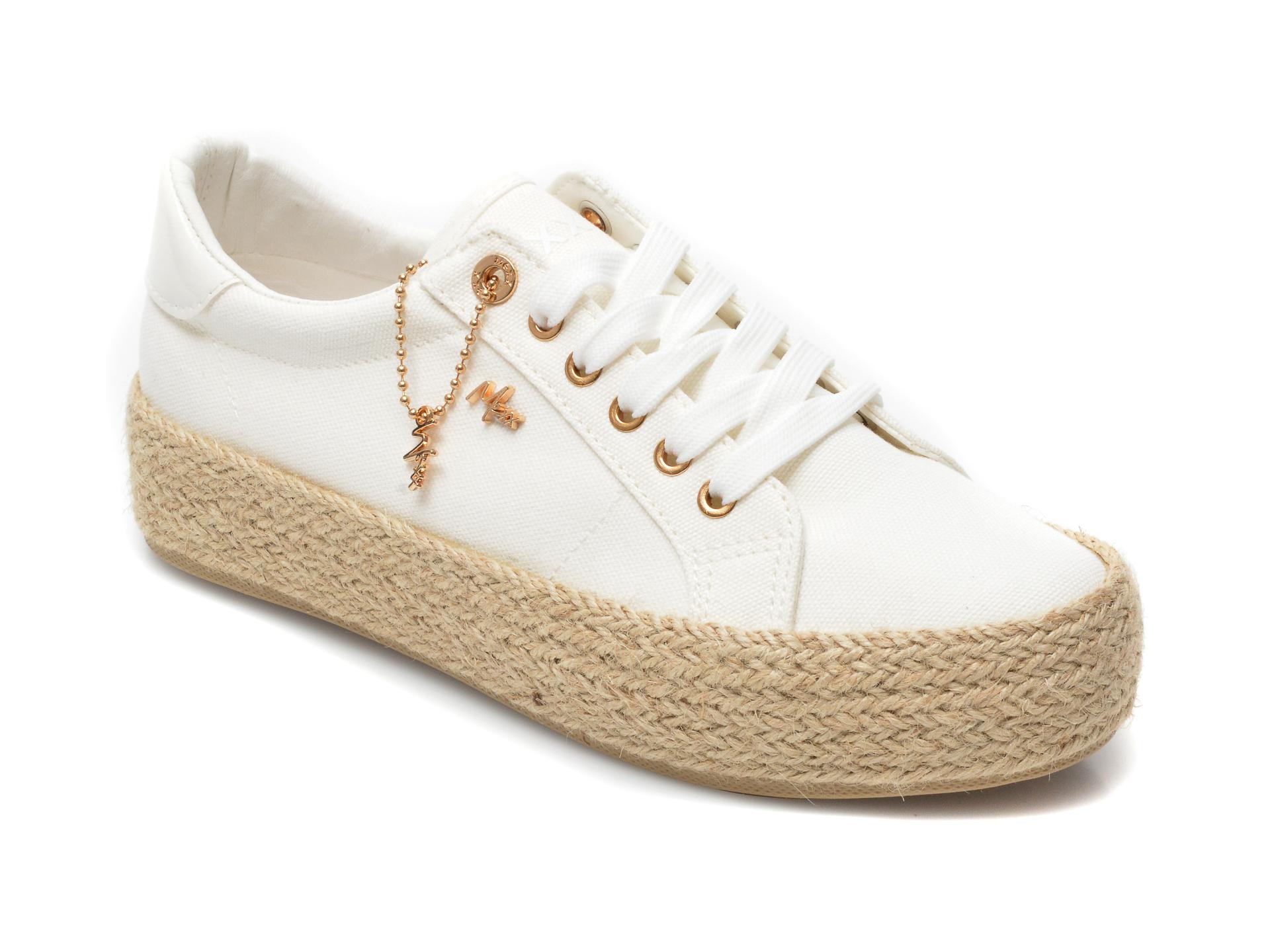 Pantofi MEXX albi, SE0040, din material textil imagine otter.ro 2021