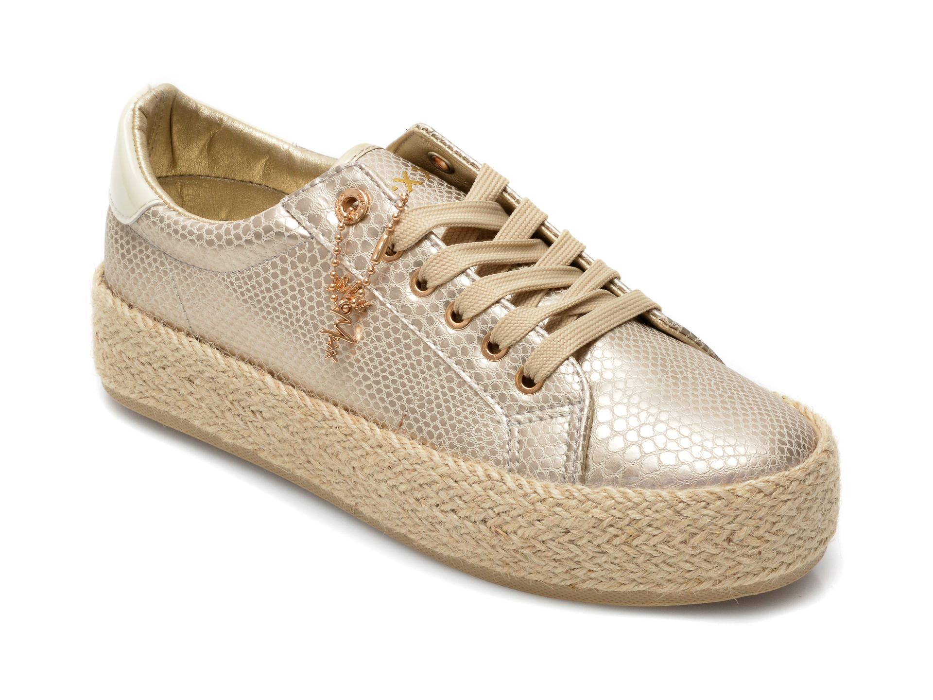 Pantofi MEXX aurii, SE0040, din piele ecologica imagine otter.ro 2021