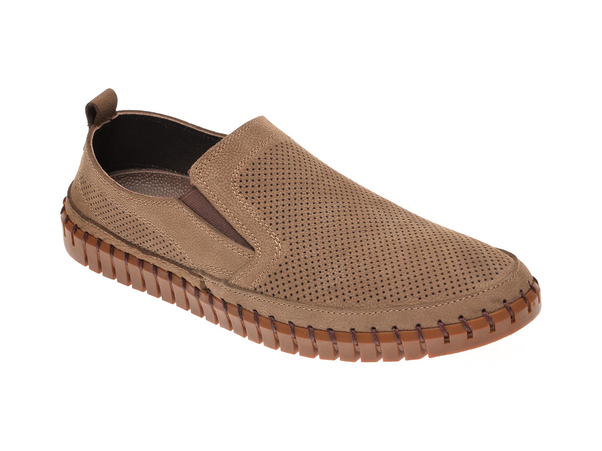 Pantofi MIASCARPA maro, P072612, din piele intoarsa imagine