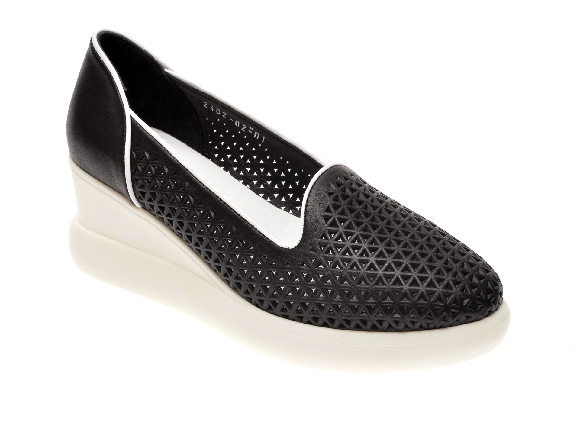 Pantofi MISS LIZA negri, 1182402, din piele naturala