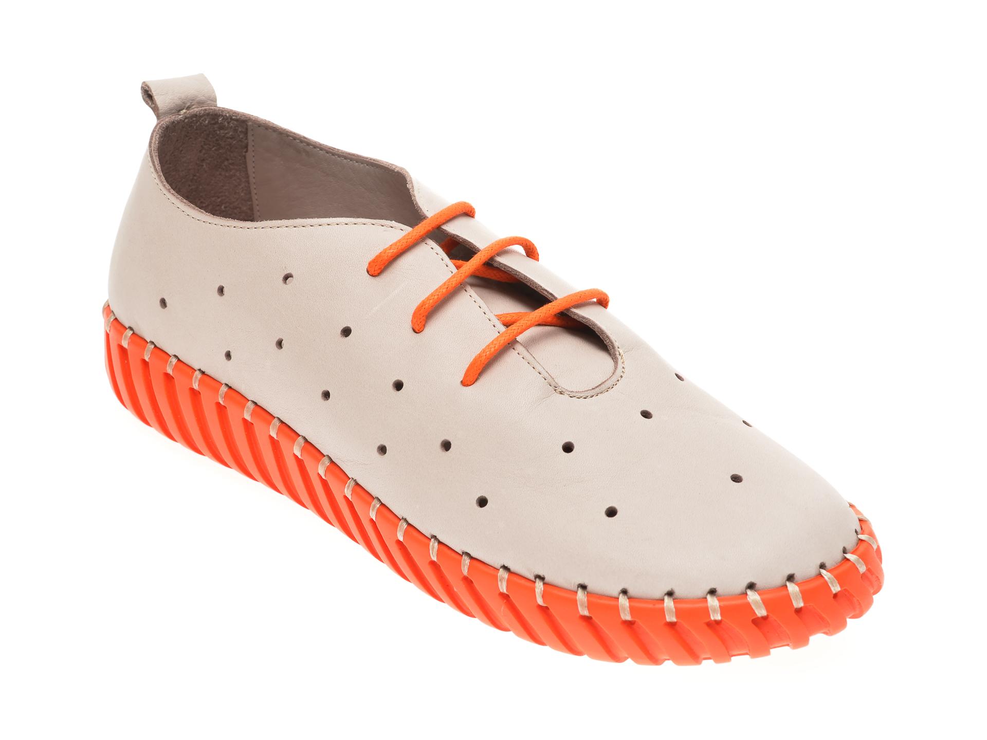 Pantofi MOLLY BESSA gri, 4261000, din piele naturala
