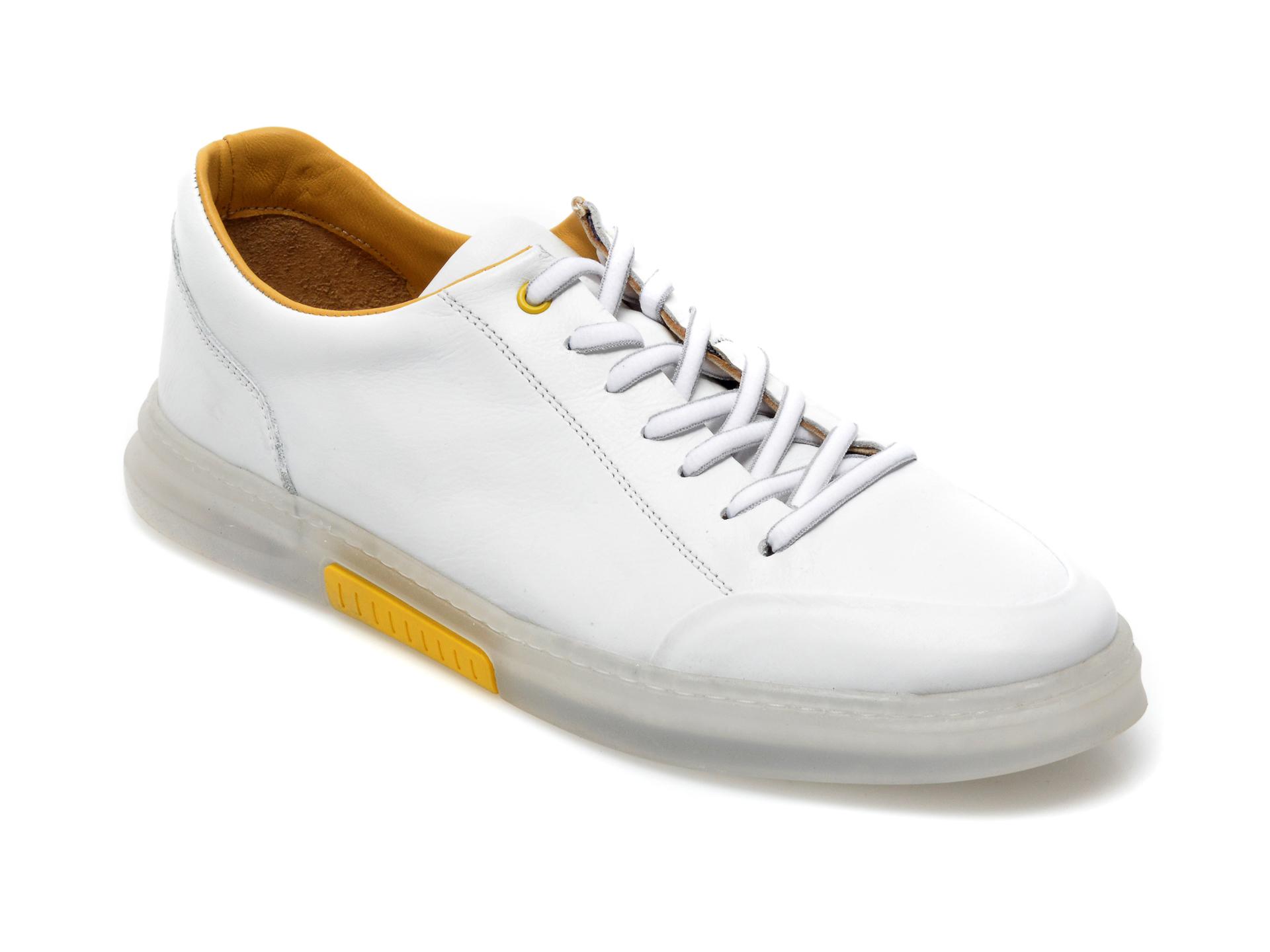 Pantofi OTTER albi, 22601, din piele naturala imagine otter.ro 2021
