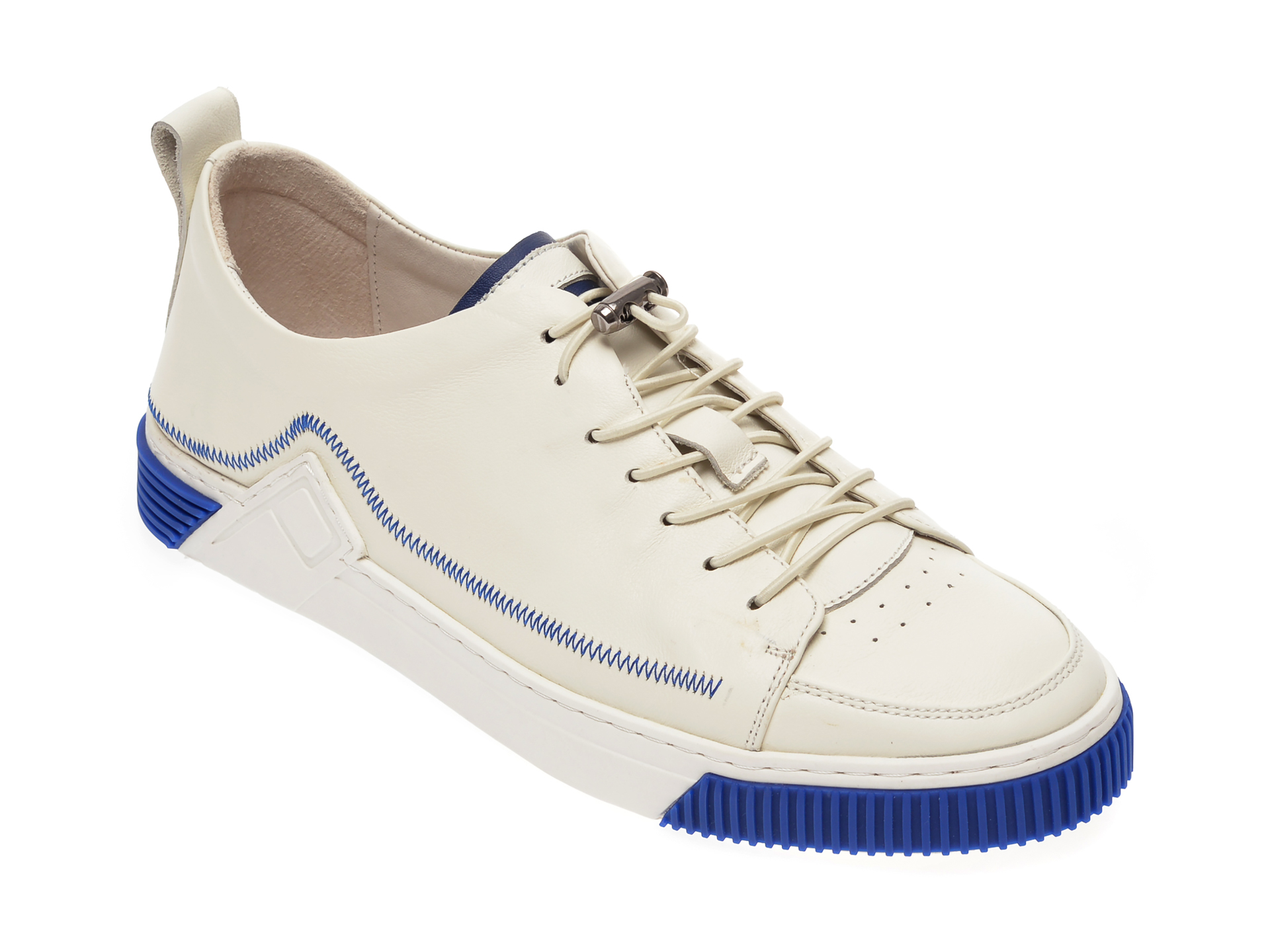 Pantofi OTTER albi, S076151, din piele naturala New