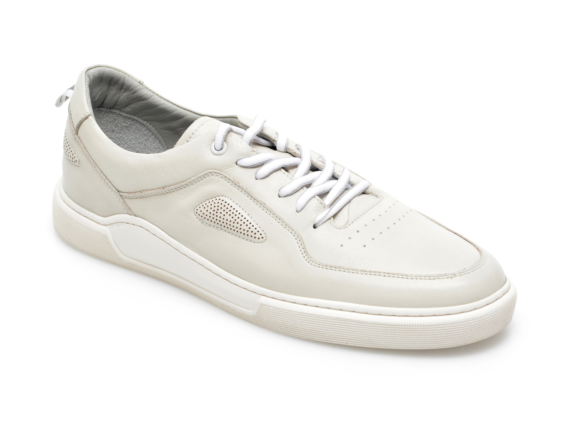 Pantofi OTTER bej, 48711, din piele naturala imagine