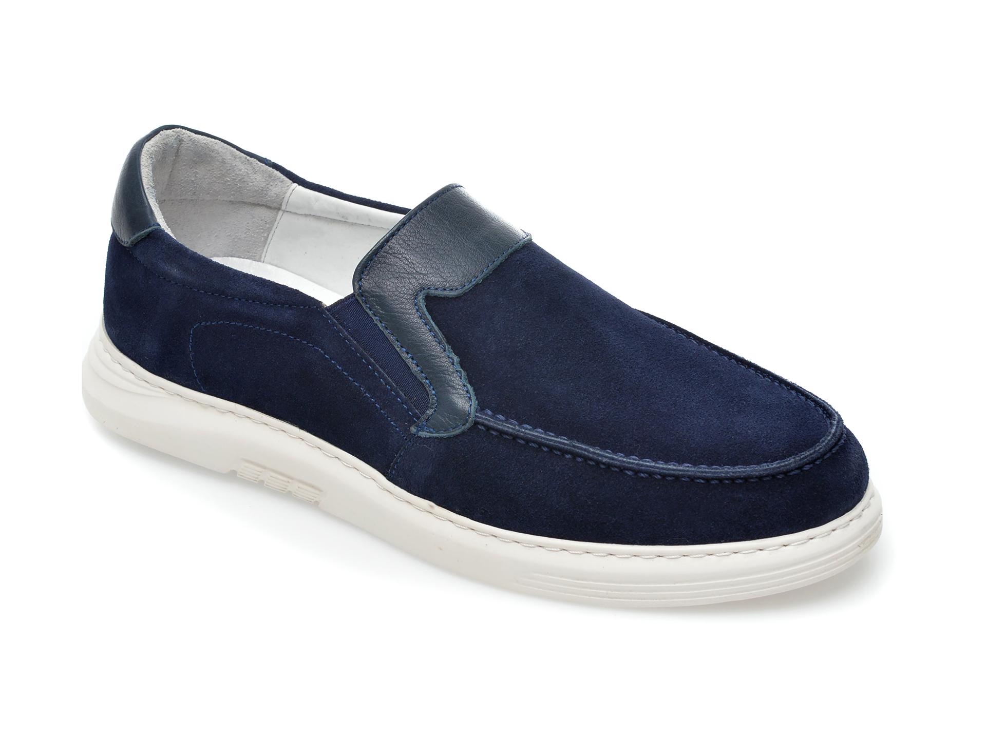 Pantofi OTTER bleumarin, 2022, din piele intoarsa imagine