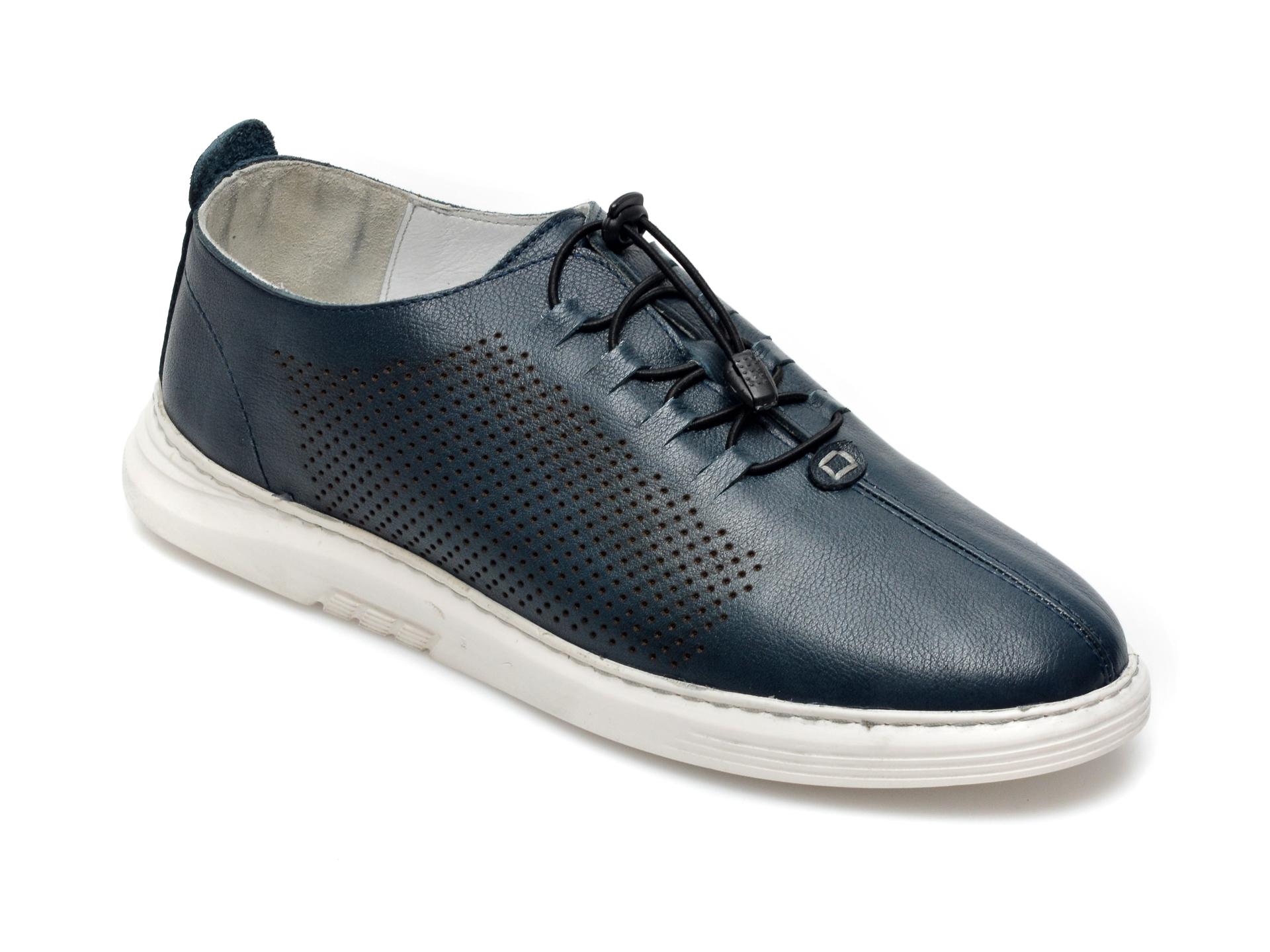 Pantofi OTTER bleumarin, 2025, din piele naturala imagine otter.ro 2021