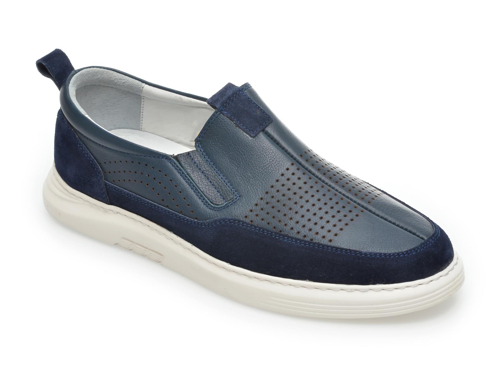 Pantofi OTTER bleumarin, 2026, din piele naturala imagine