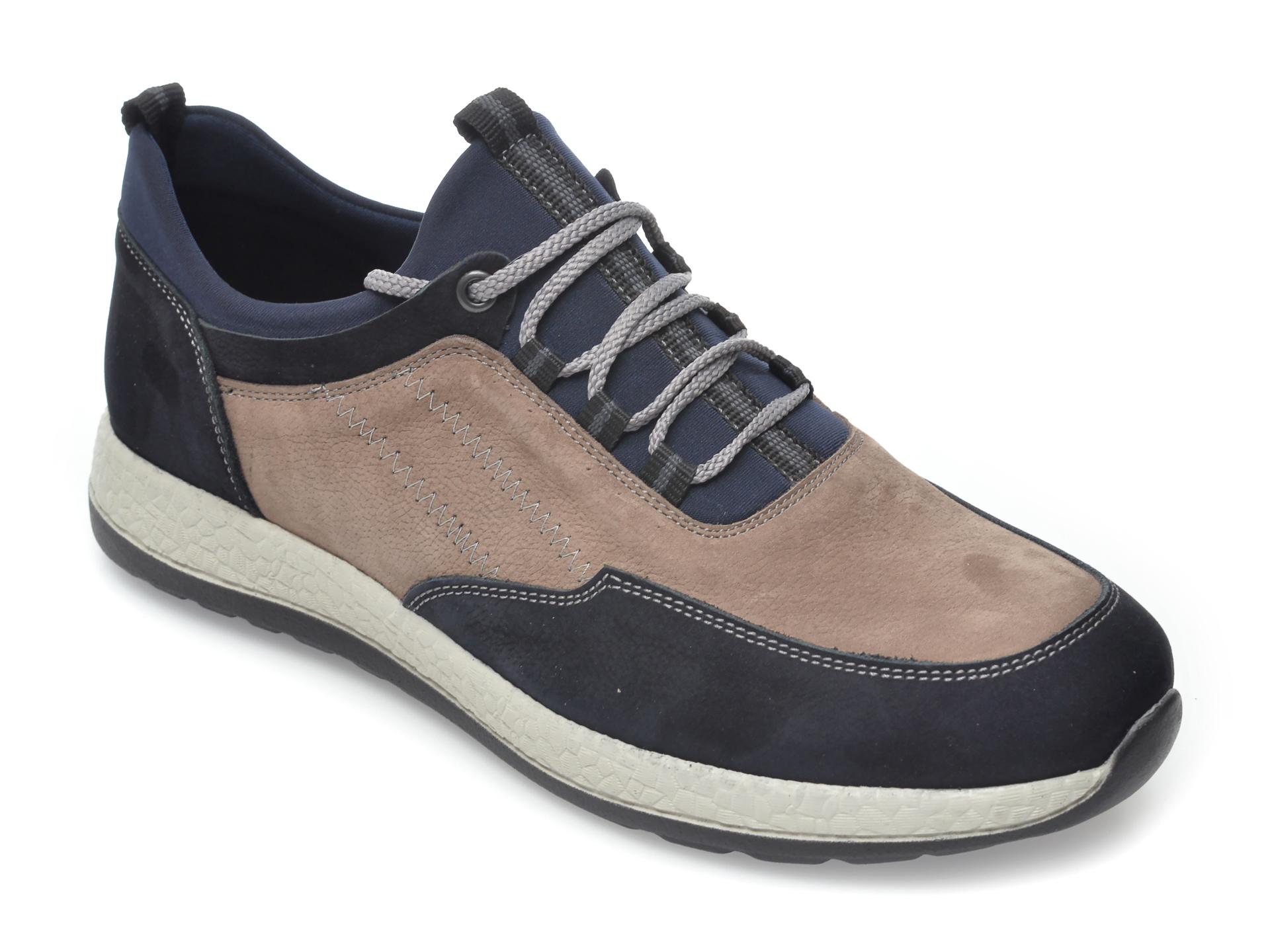 Pantofi OTTER bleumarin, 22172, din nabuc imagine otter.ro