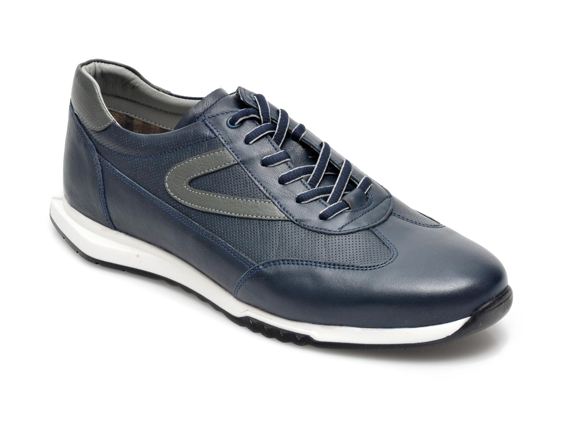 Pantofi OTTER bleumarin, 26705, din piele naturala imagine otter.ro 2021