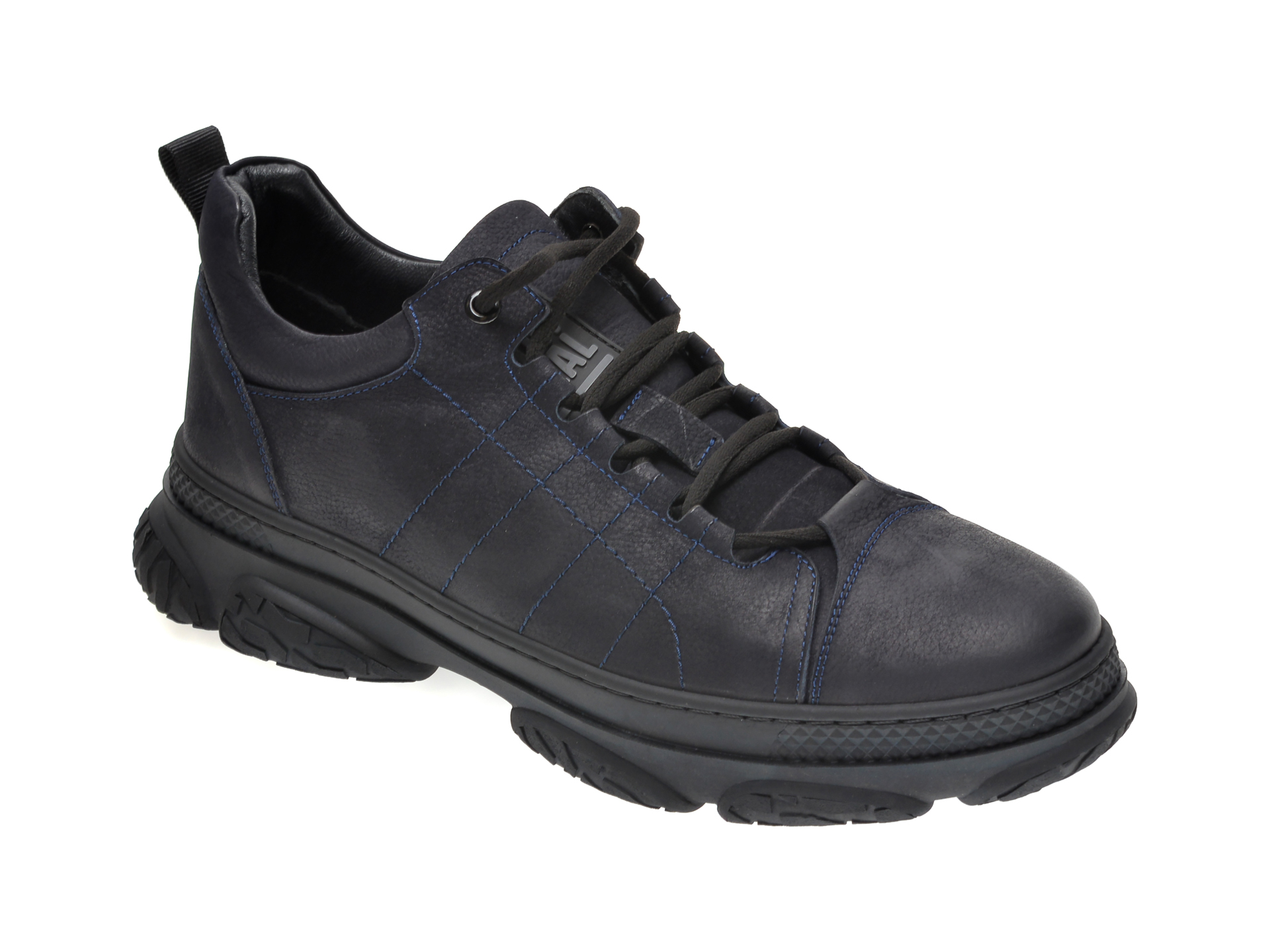 Pantofi OTTER bleumarin, 28403, din nabuc imagine