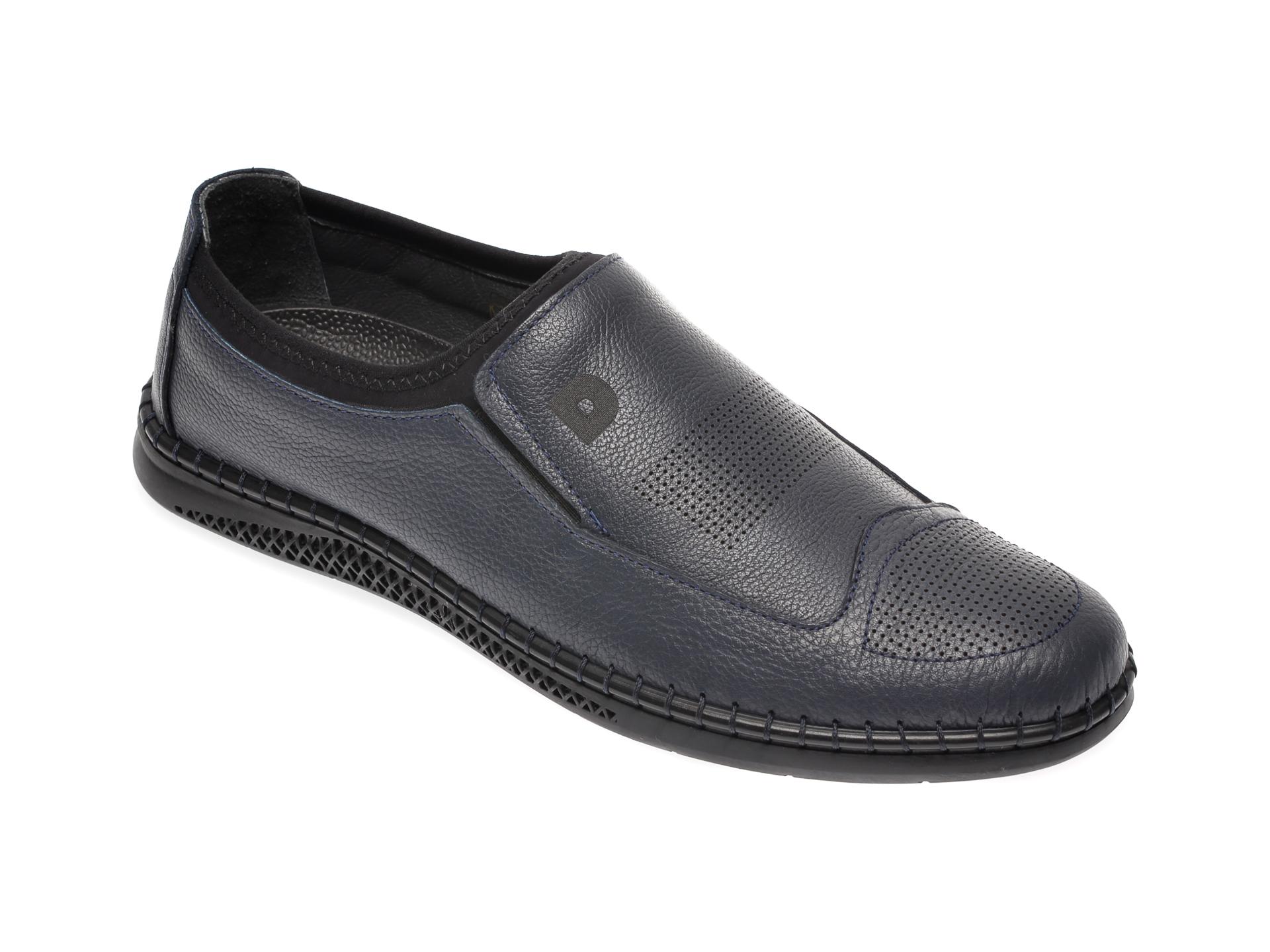 Pantofi OTTER bleumarin, 2894, din piele naturala