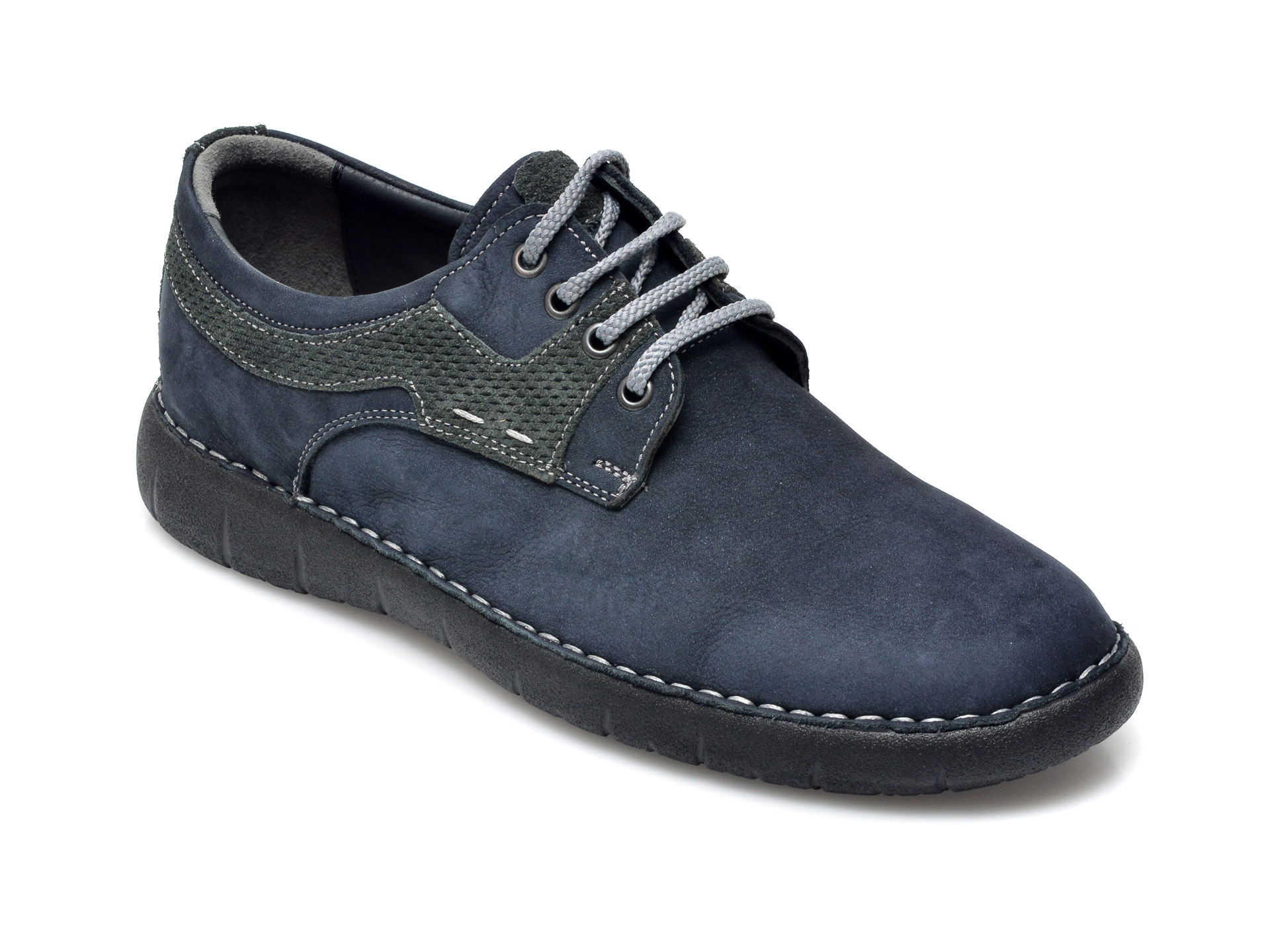 Pantofi OTTER bleumarin, 29331, din nabuc imagine otter.ro