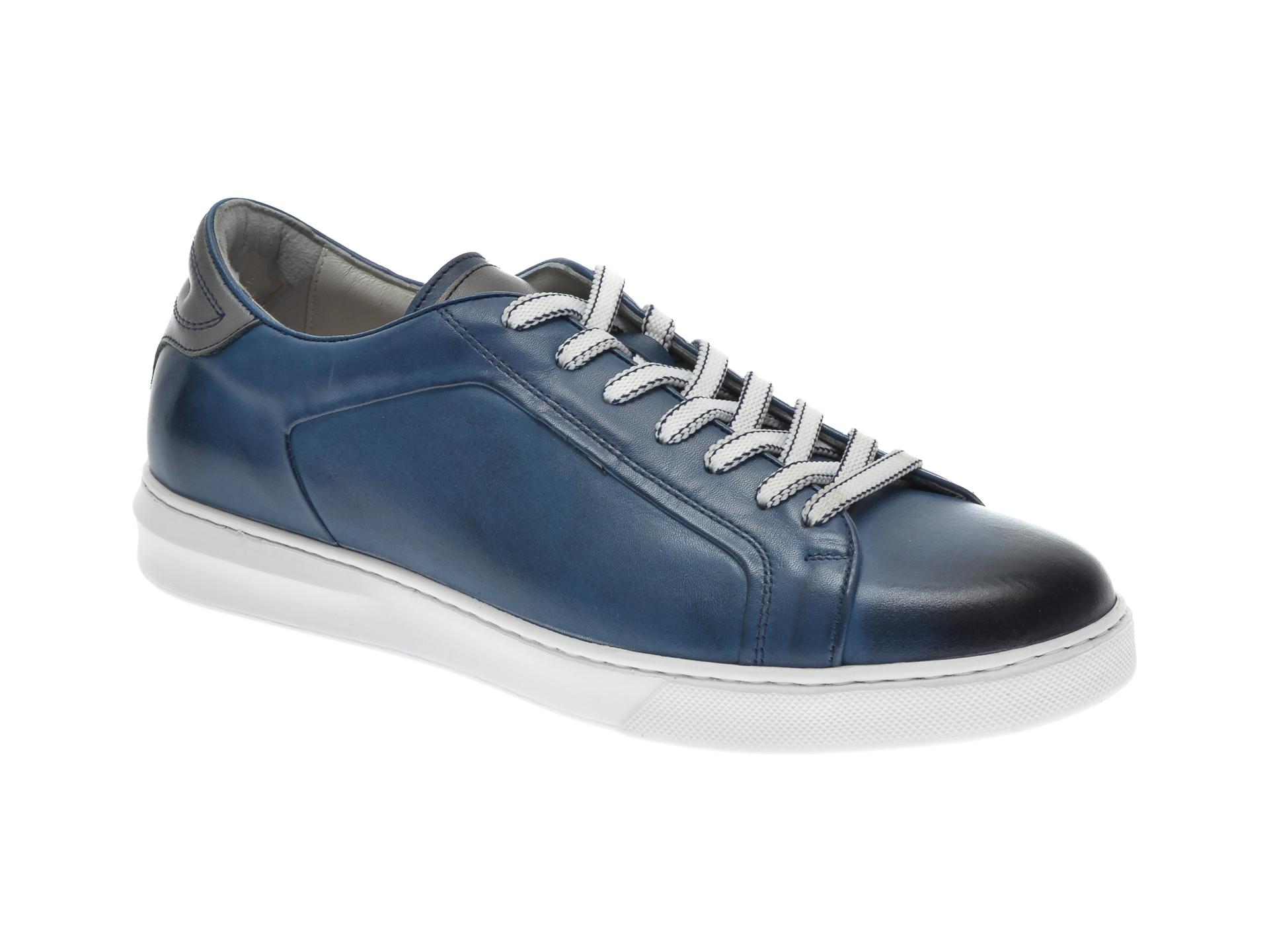 Pantofi OTTER bleumarin, 3384, din piele naturala imagine