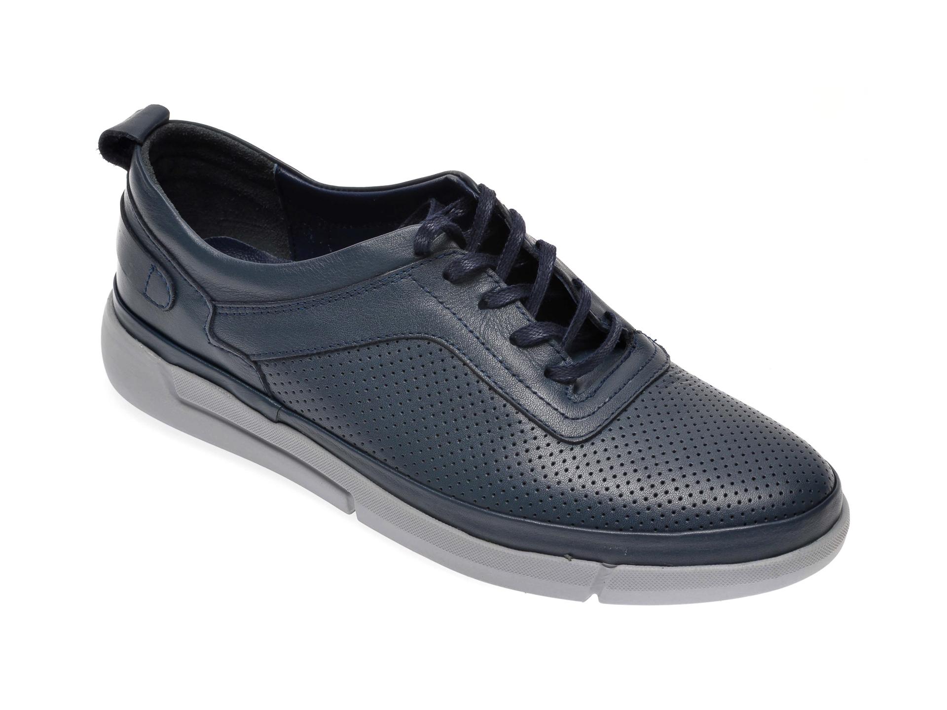 Pantofi OTTER bleumarin, 402, din piele naturala