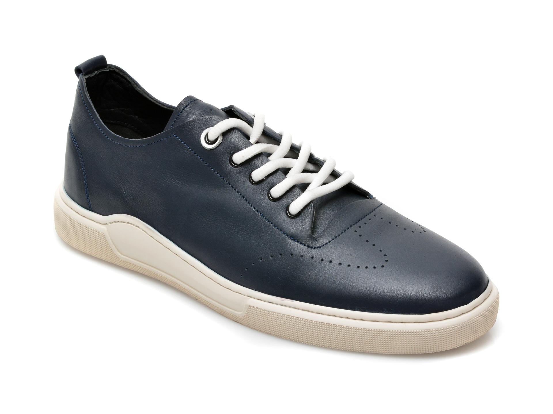 Pantofi OTTER bleumarin, 48701, din piele naturala imagine otter.ro 2021
