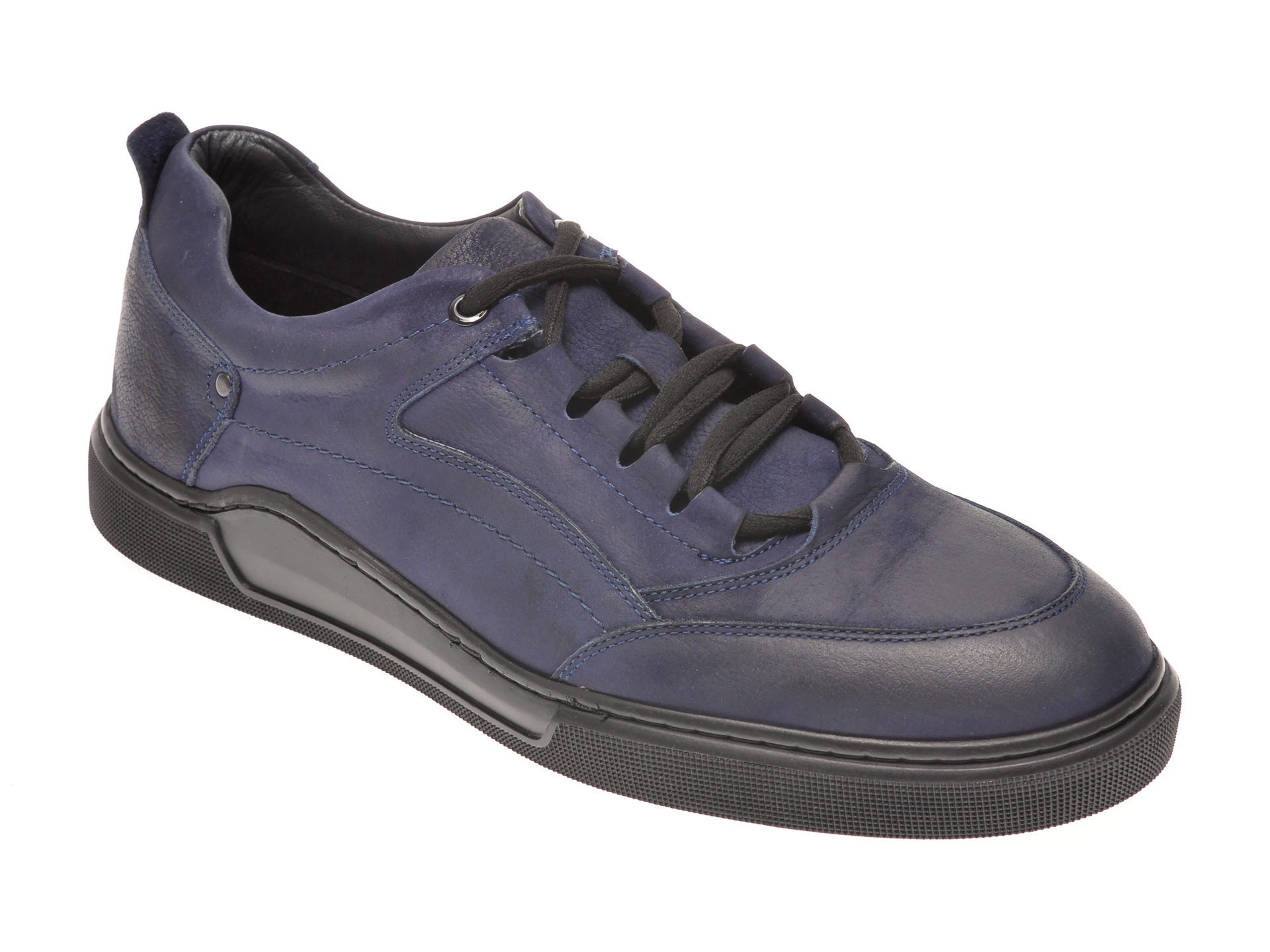 Pantofi OTTER bleumarin, 48707, din nabuc
