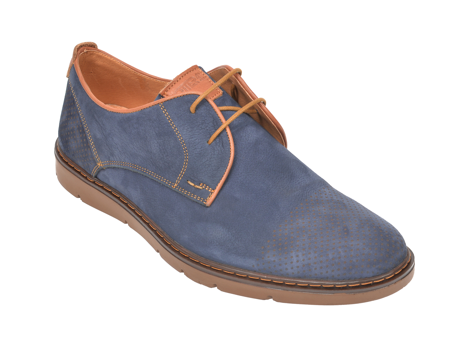 Pantofi OTTER bleumarin, 59251, din nabuc imagine
