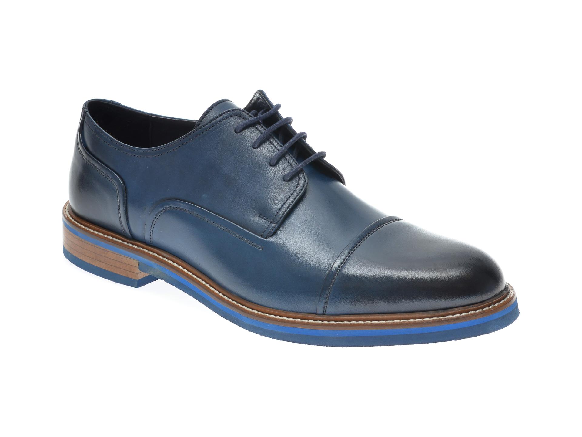 Pantofi OTTER bleumarin, 7843, din piele naturala imagine