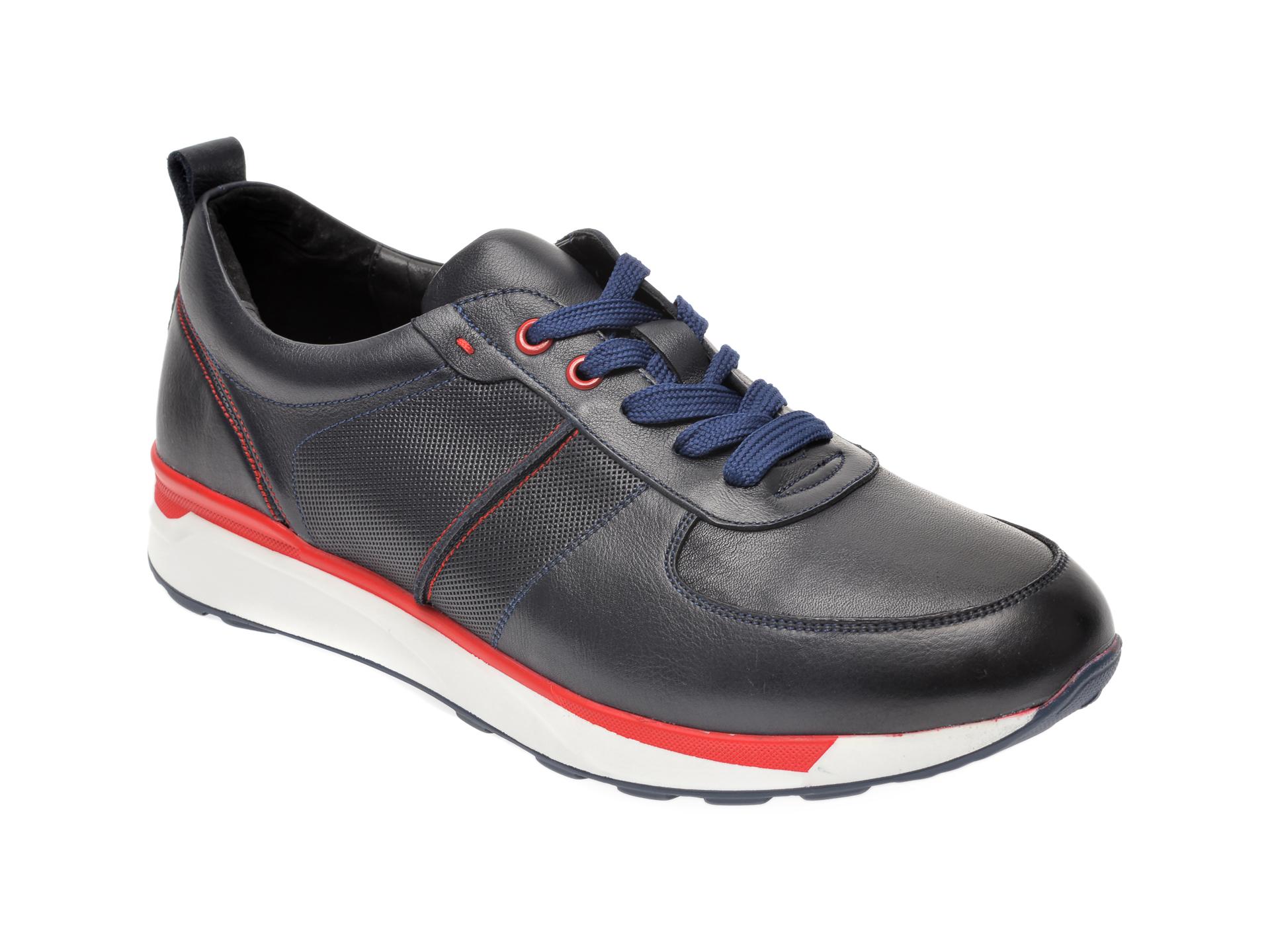 Pantofi OTTER bleumarin, 7D91148, din piele naturala New
