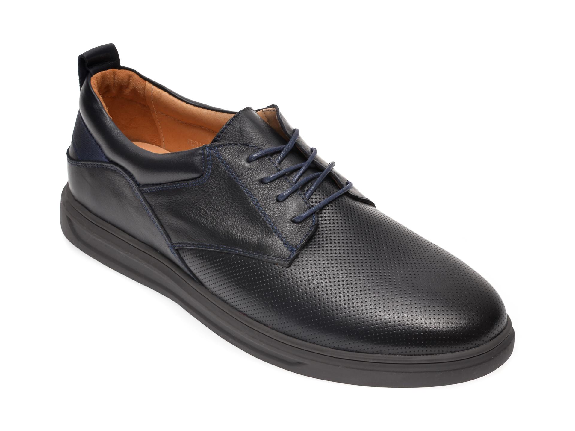 Pantofi OTTER bleumarin, 7D91831, din piele naturala imagine