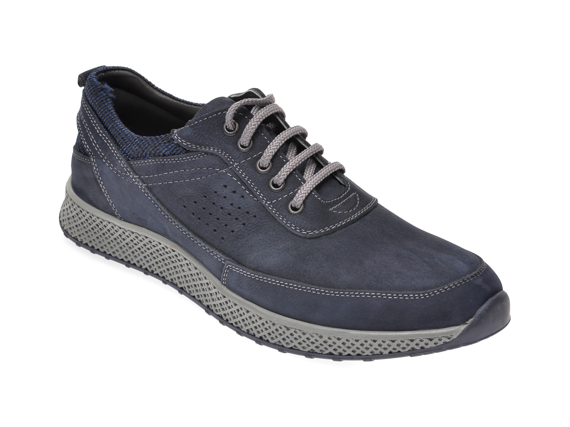 Pantofi OTTER bleumarin, 915281, din nabuc imagine