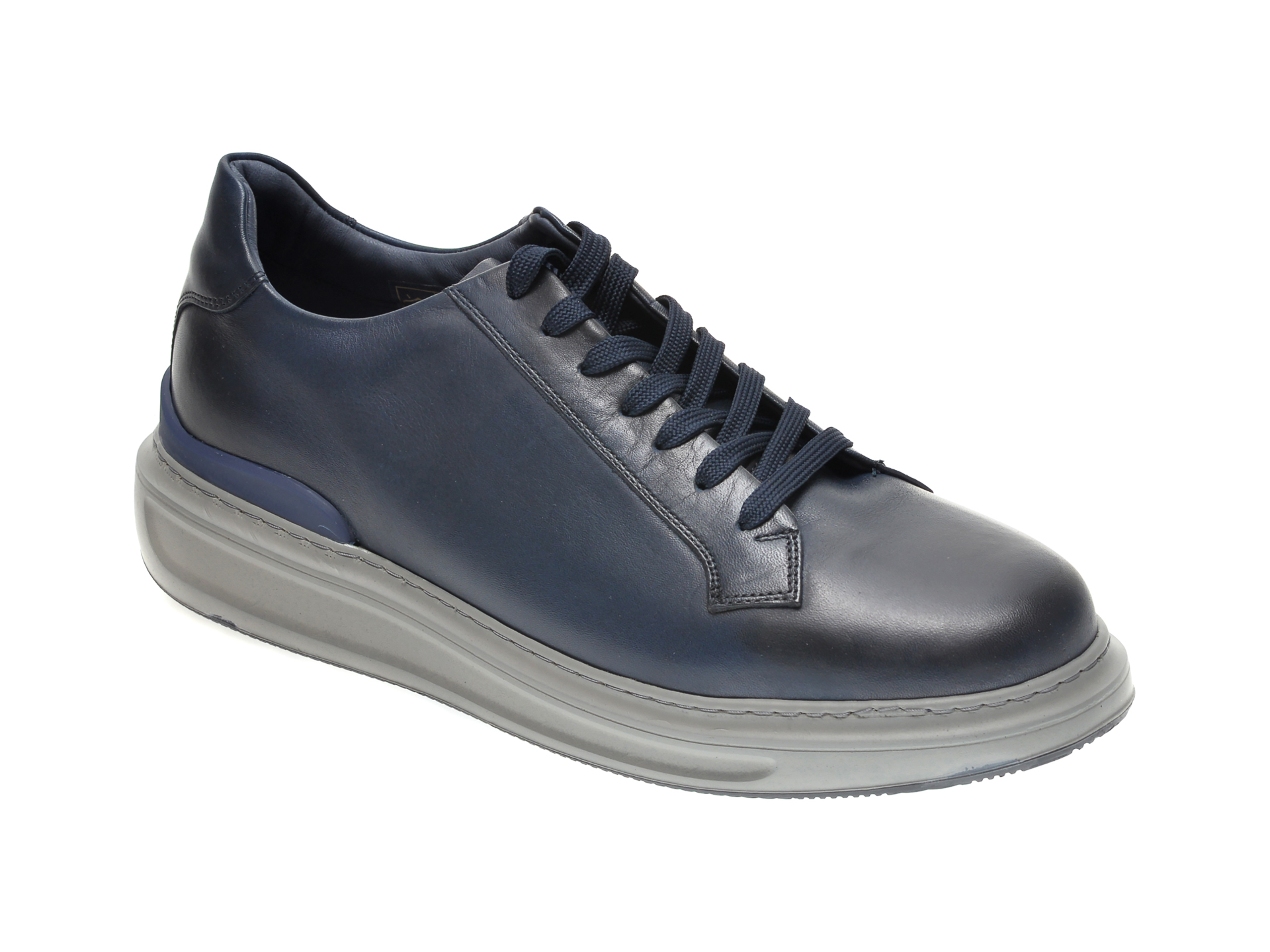 Pantofi OTTER bleumarin, 9155, din piele naturala imagine