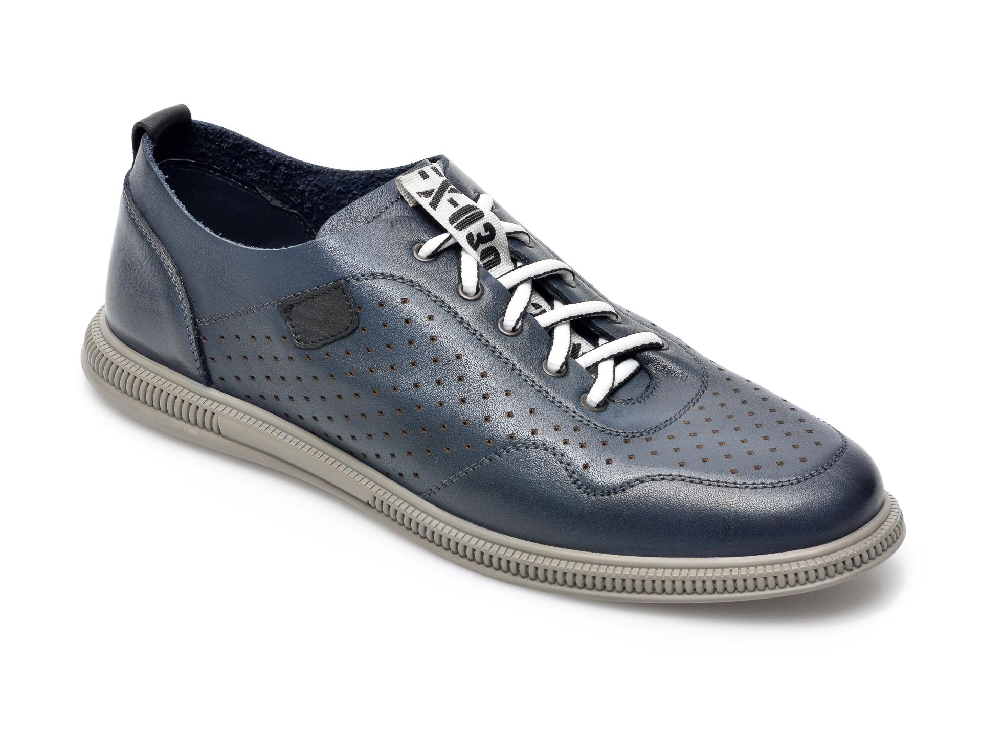 Pantofi OTTER bleumarin, 925, din piele naturala imagine otter.ro 2021