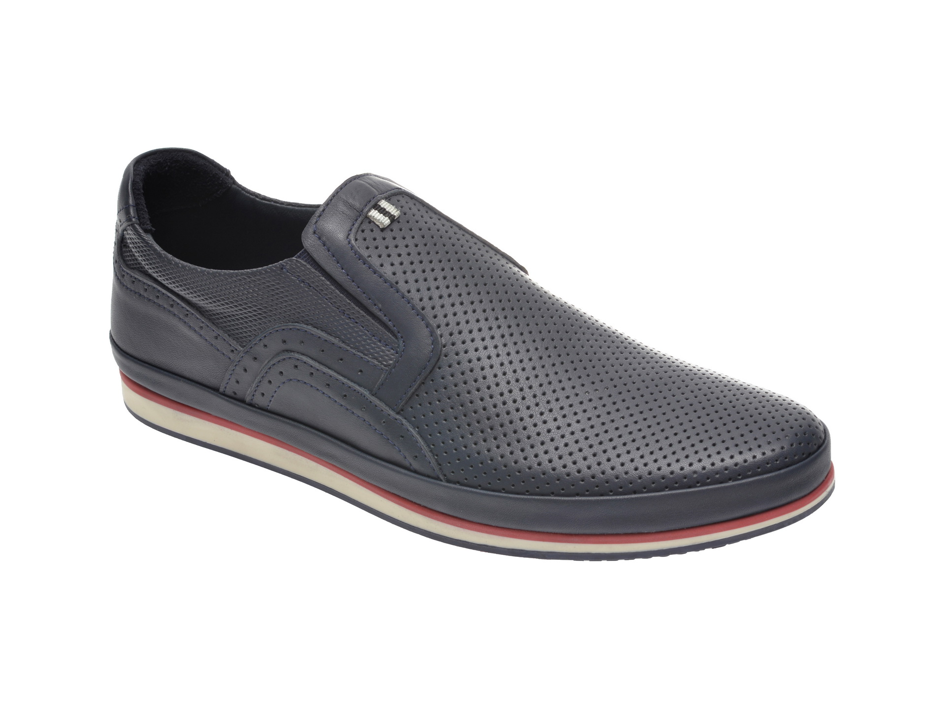 Pantofi OTTER bleumarin, M5500, din piele naturala imagine