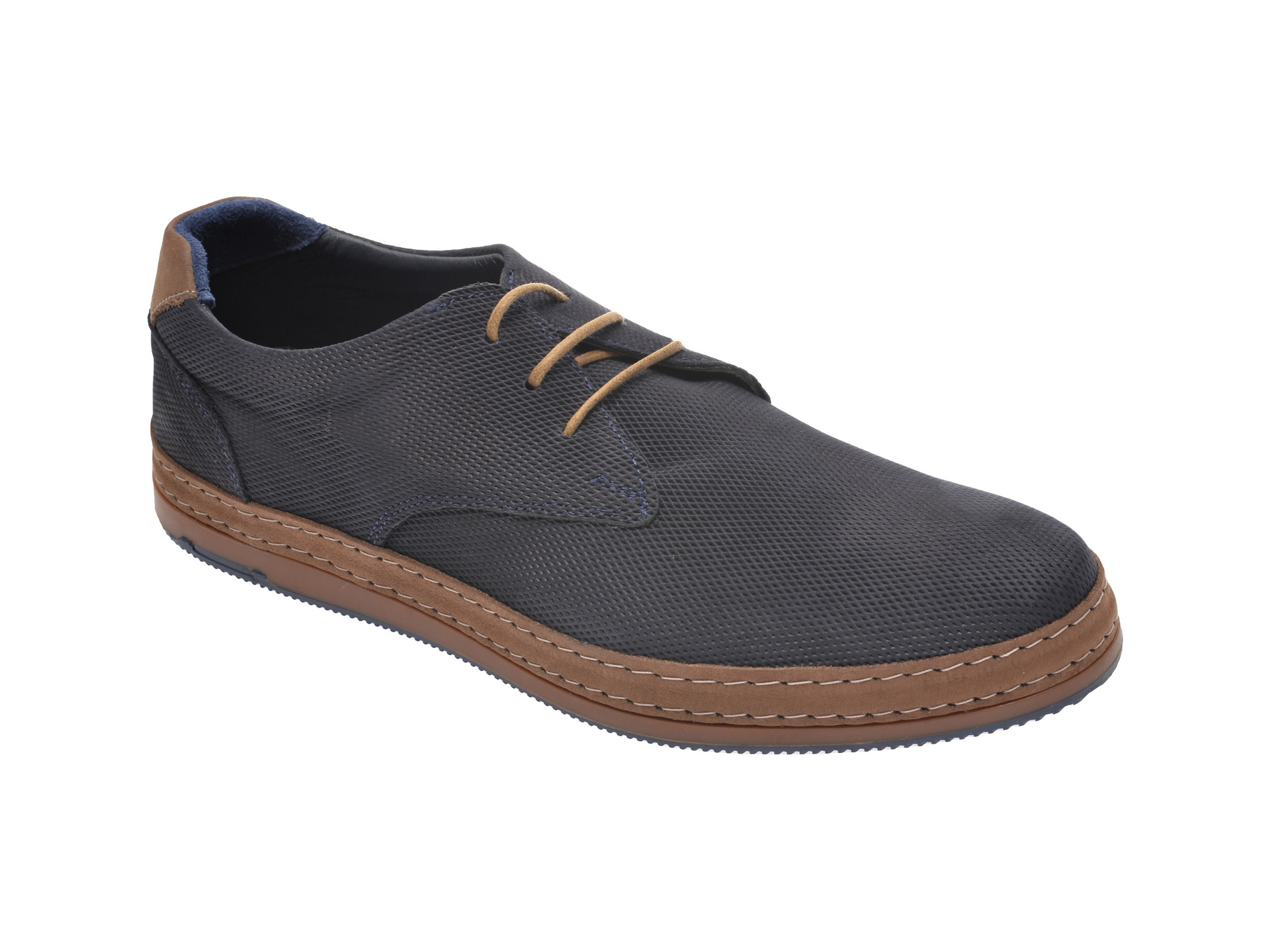 Pantofi OTTER bleumarin, M5511, din nabuc New