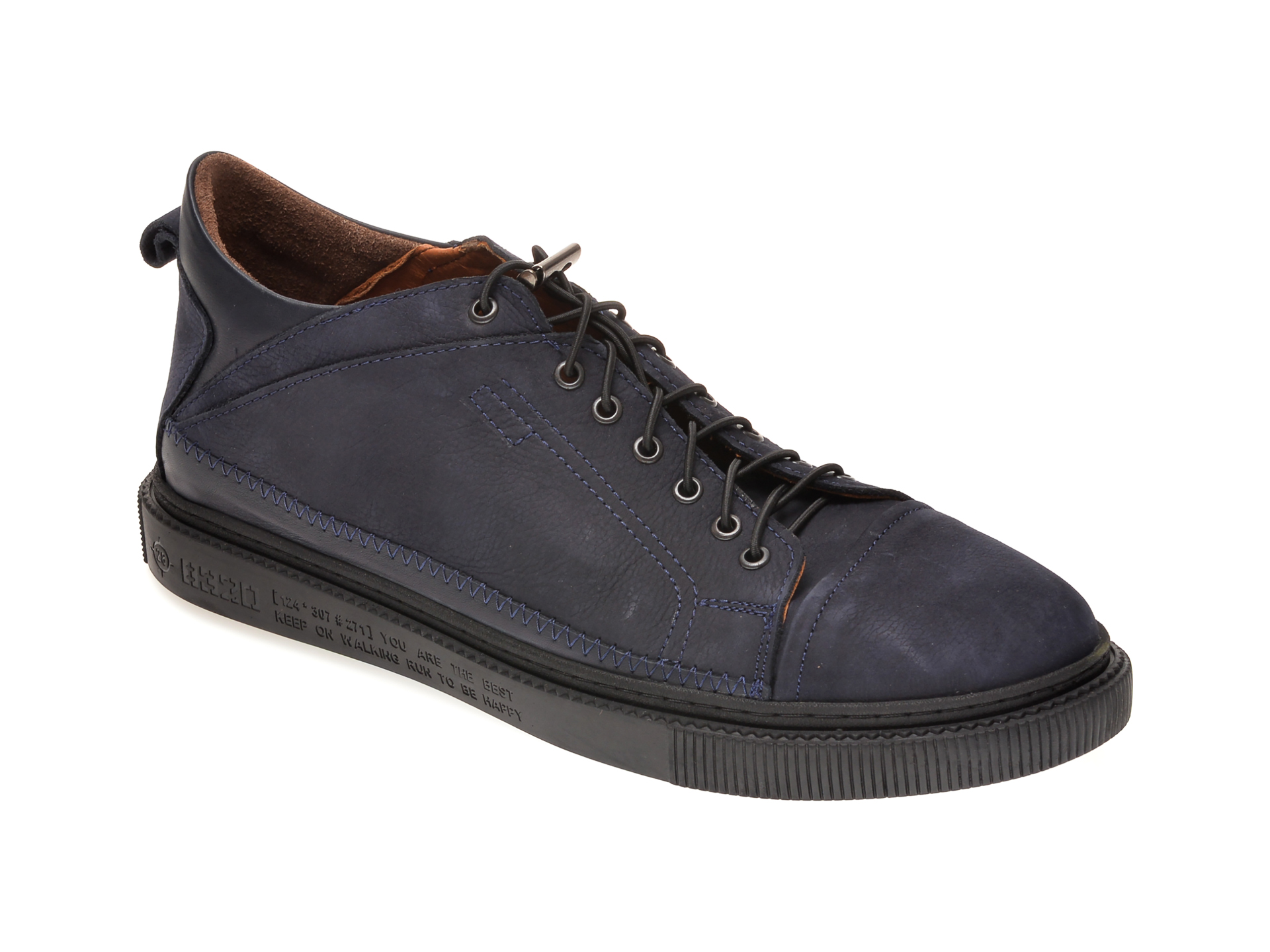 Pantofi OTTER bleumarin, M5746, din nabuc imagine