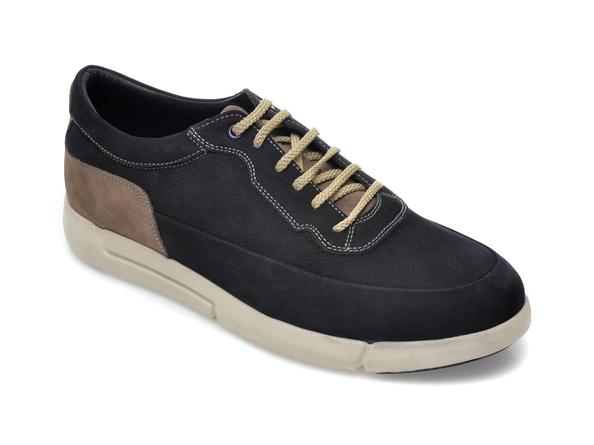 Pantofi OTTER bleumarin, SF4013, din nabuc imagine