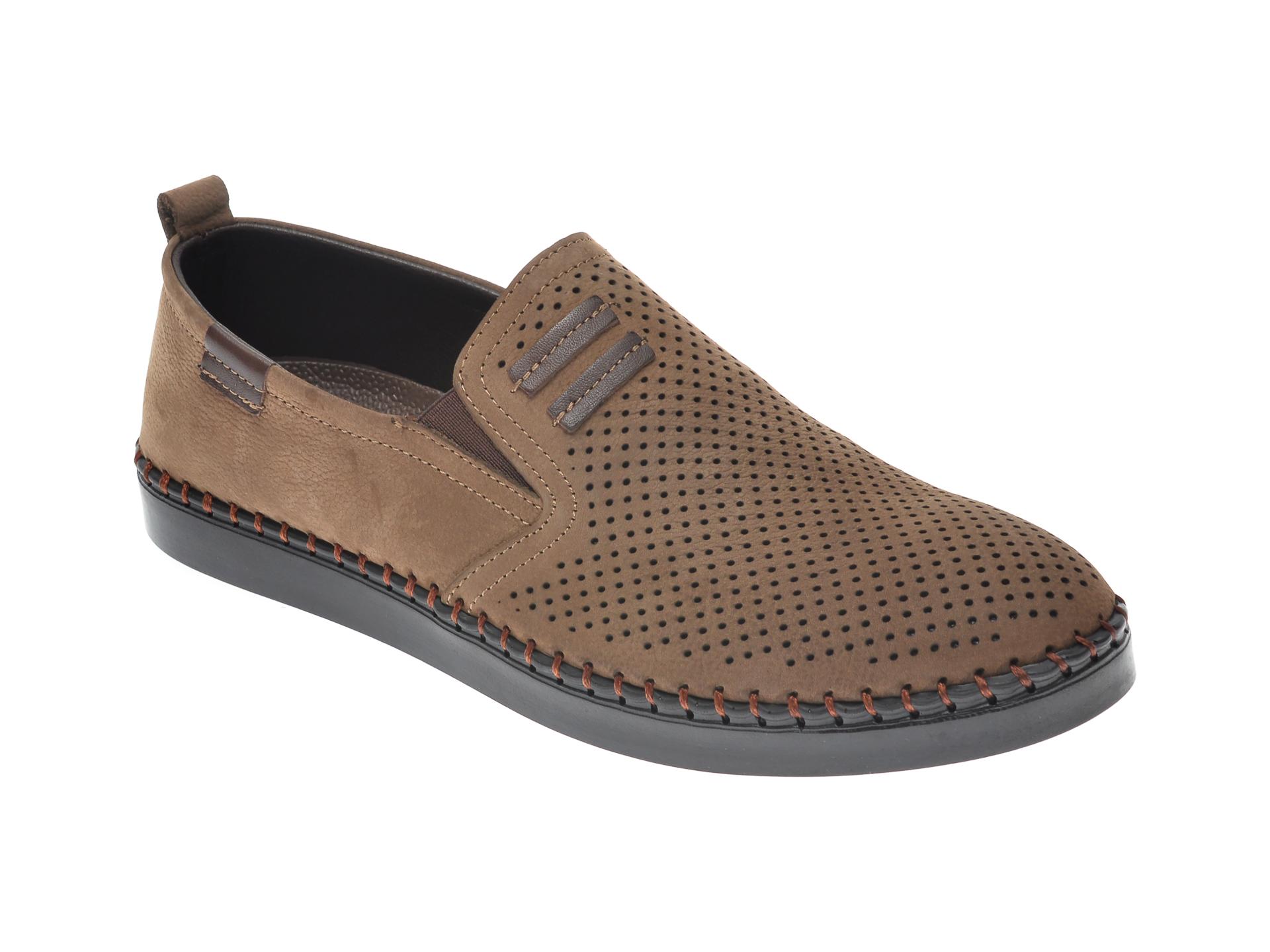 Pantofi OTTER gri, 2870, din nabuc imagine