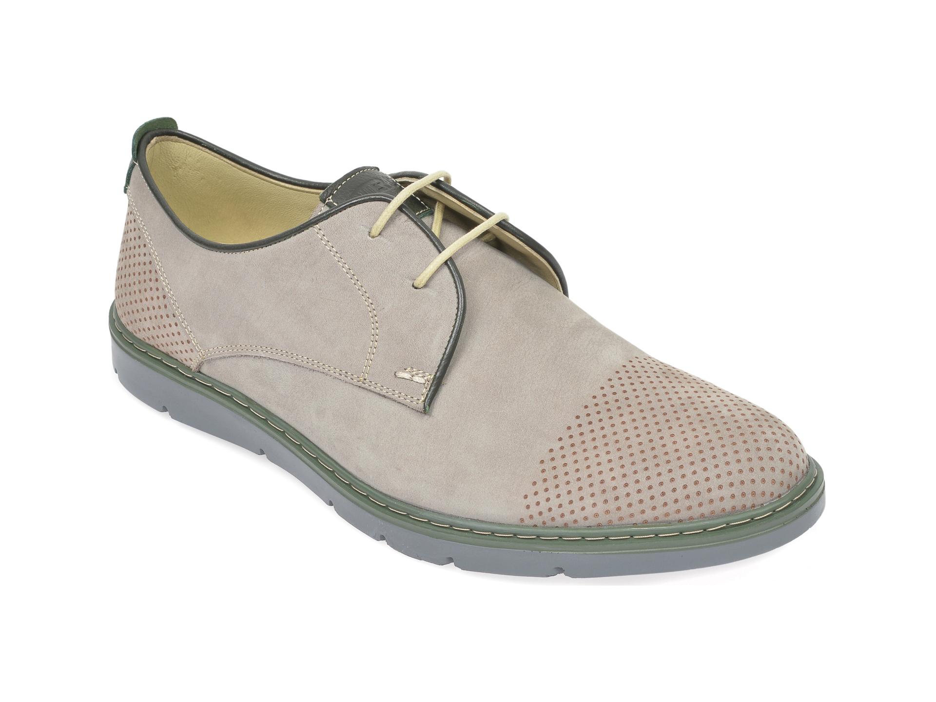 Pantofi OTTER gri, 59251, din nabuc imagine