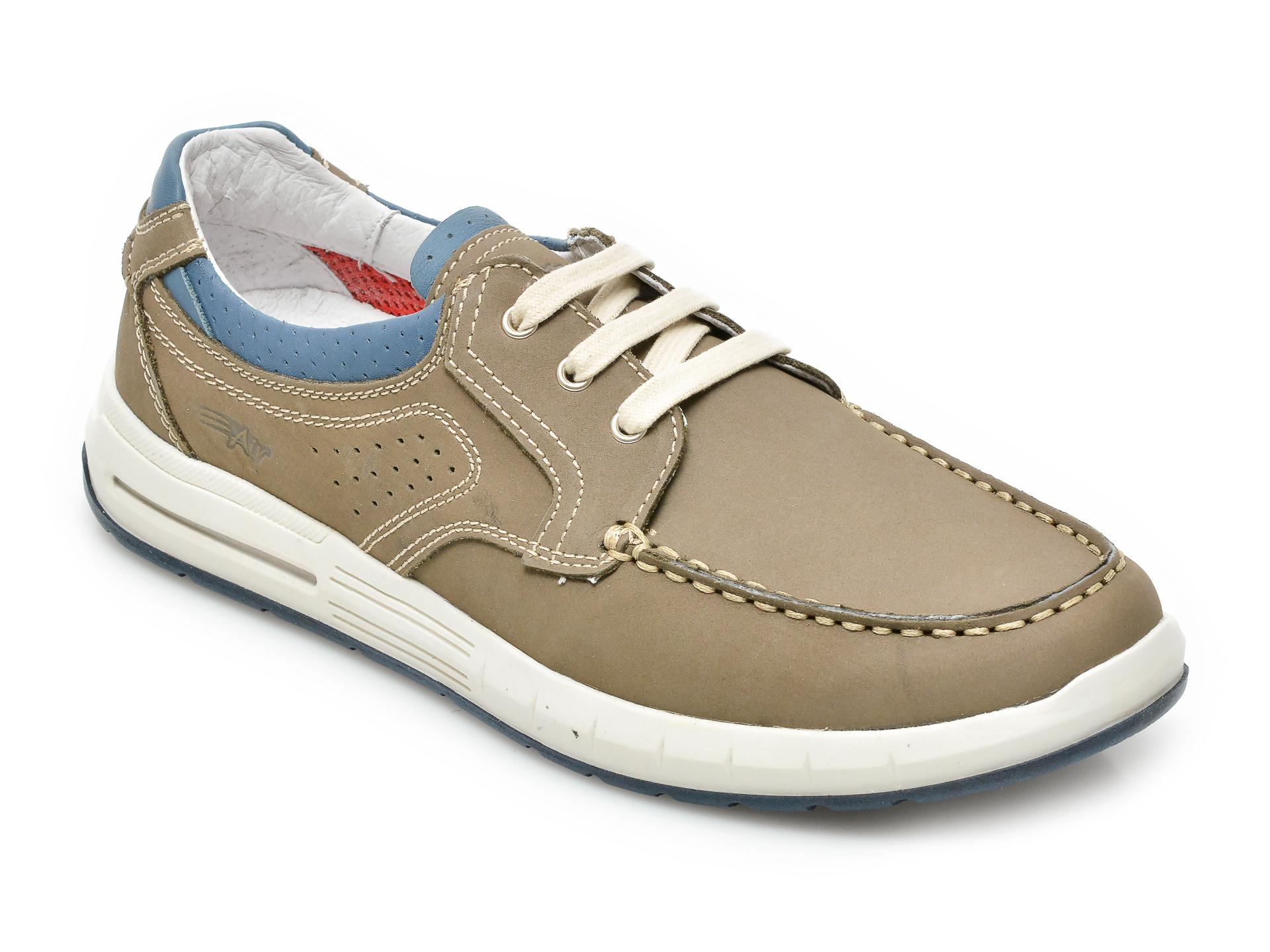 Pantofi OTTER gri, 8192, din nabuc imagine otter.ro