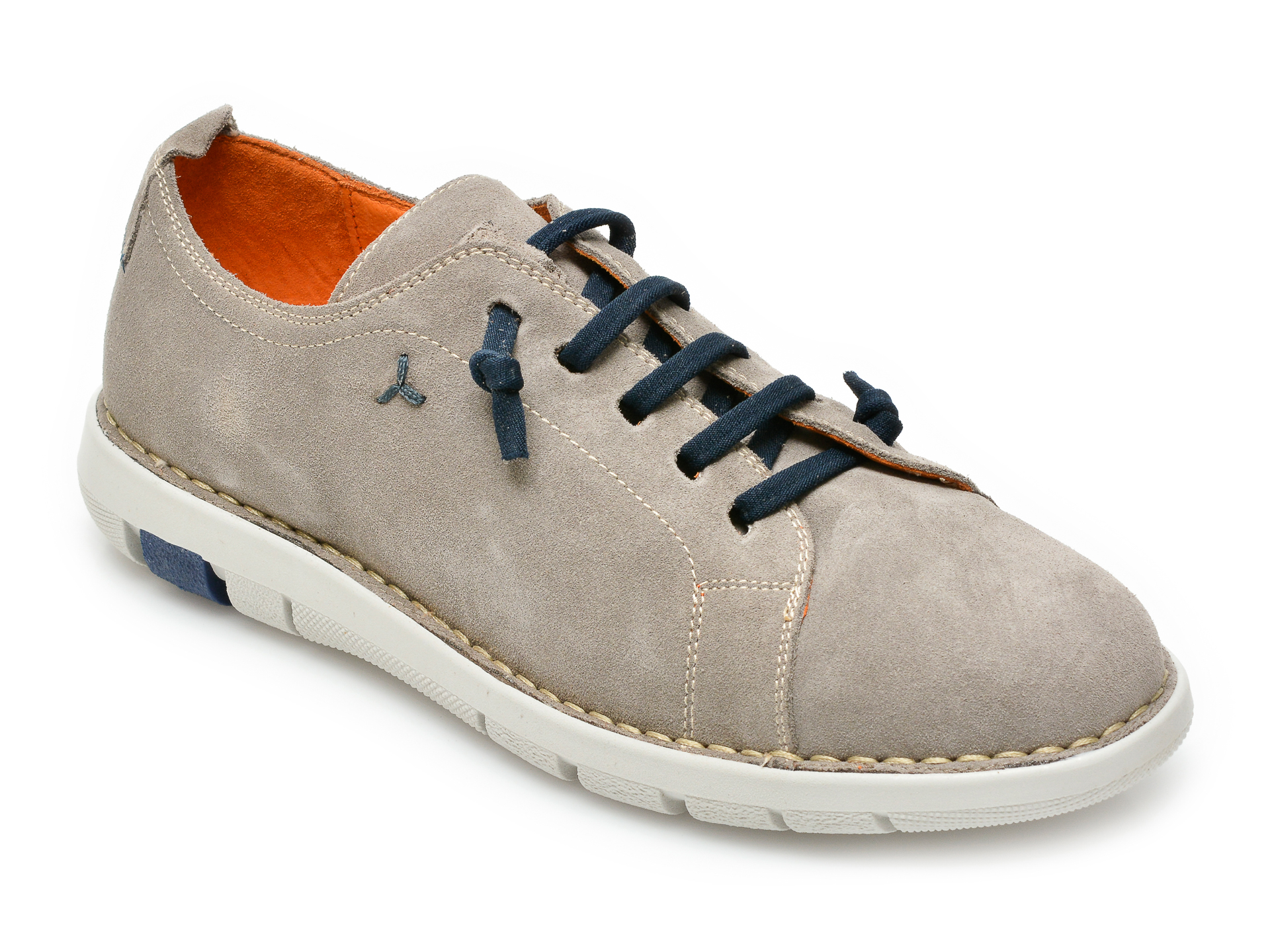 Pantofi OTTER gri, 8455, din piele intoarsa imagine